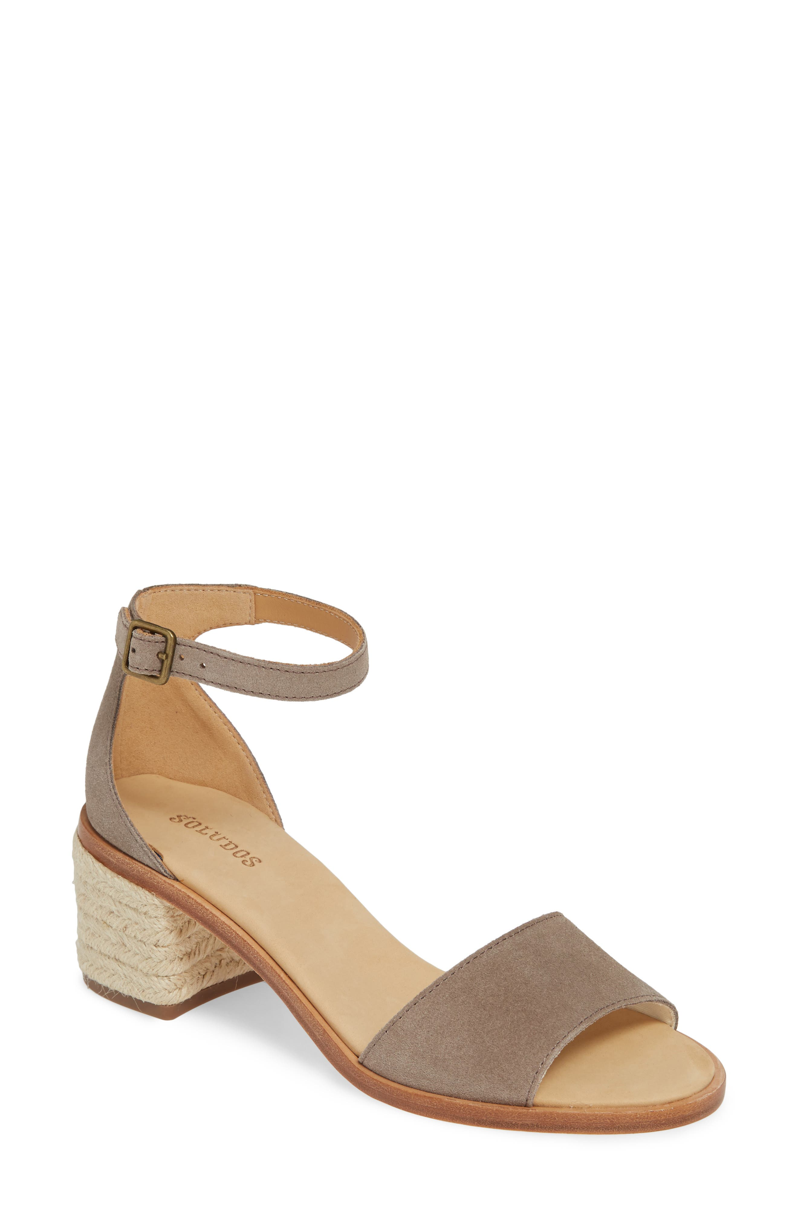 SOLUDOS Capri Espadrille Heel Sandal, Main, color, ASH