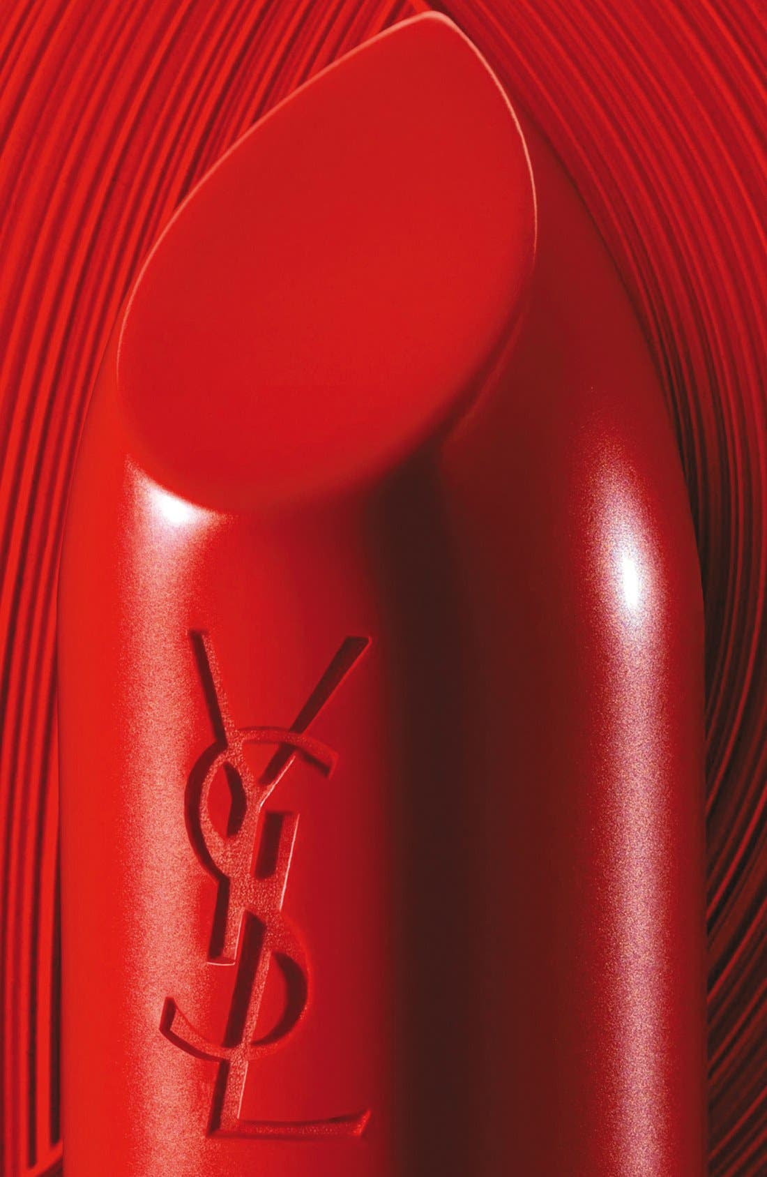 YVES SAINT LAURENT, Rouge Pur Couture Satin Lipstick, Alternate thumbnail 5, color, 01 LE ROUGE