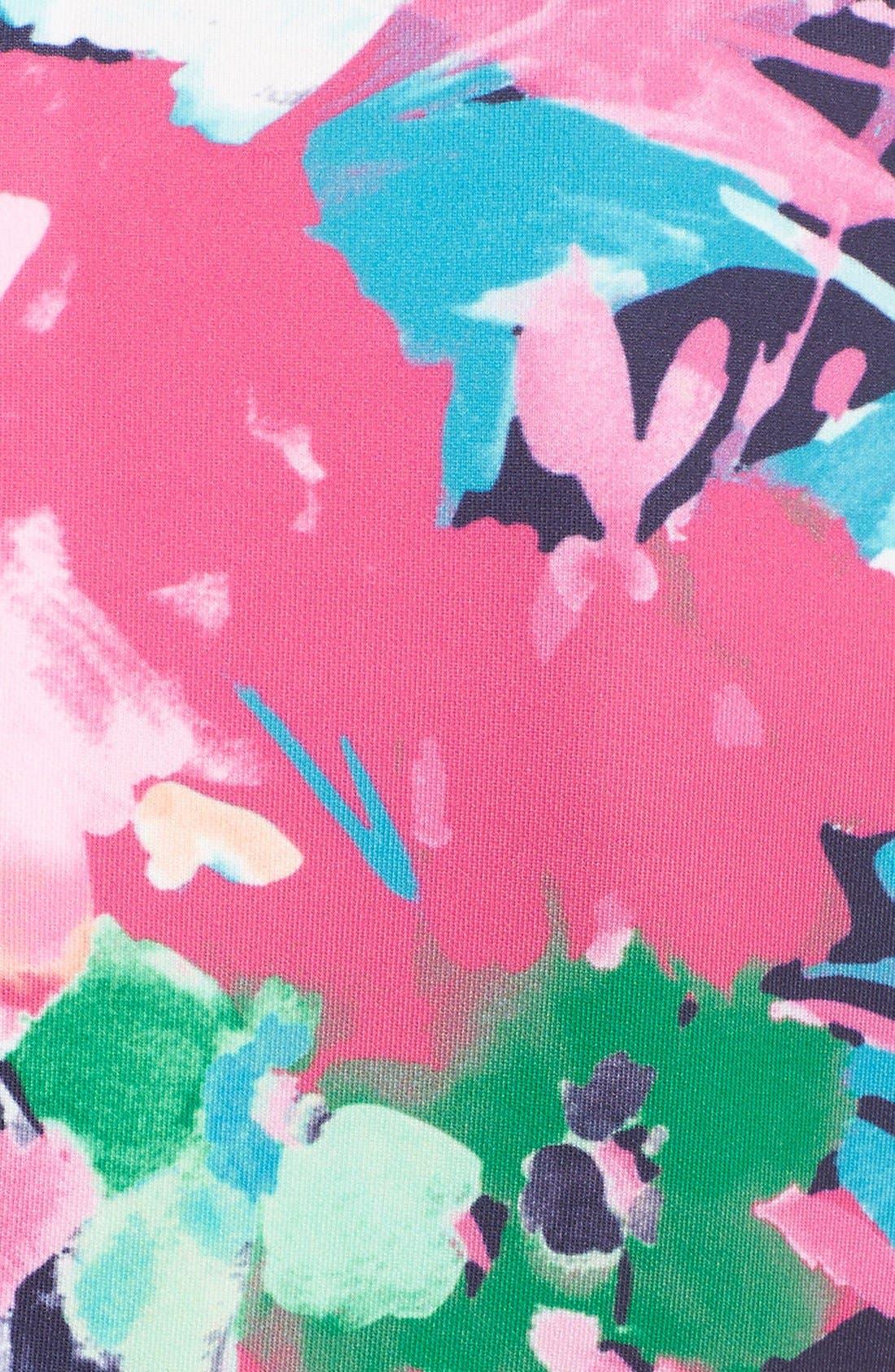 ELIZA J, Floral Print Scuba Fit & Flare Dress, Alternate thumbnail 2, color, 470