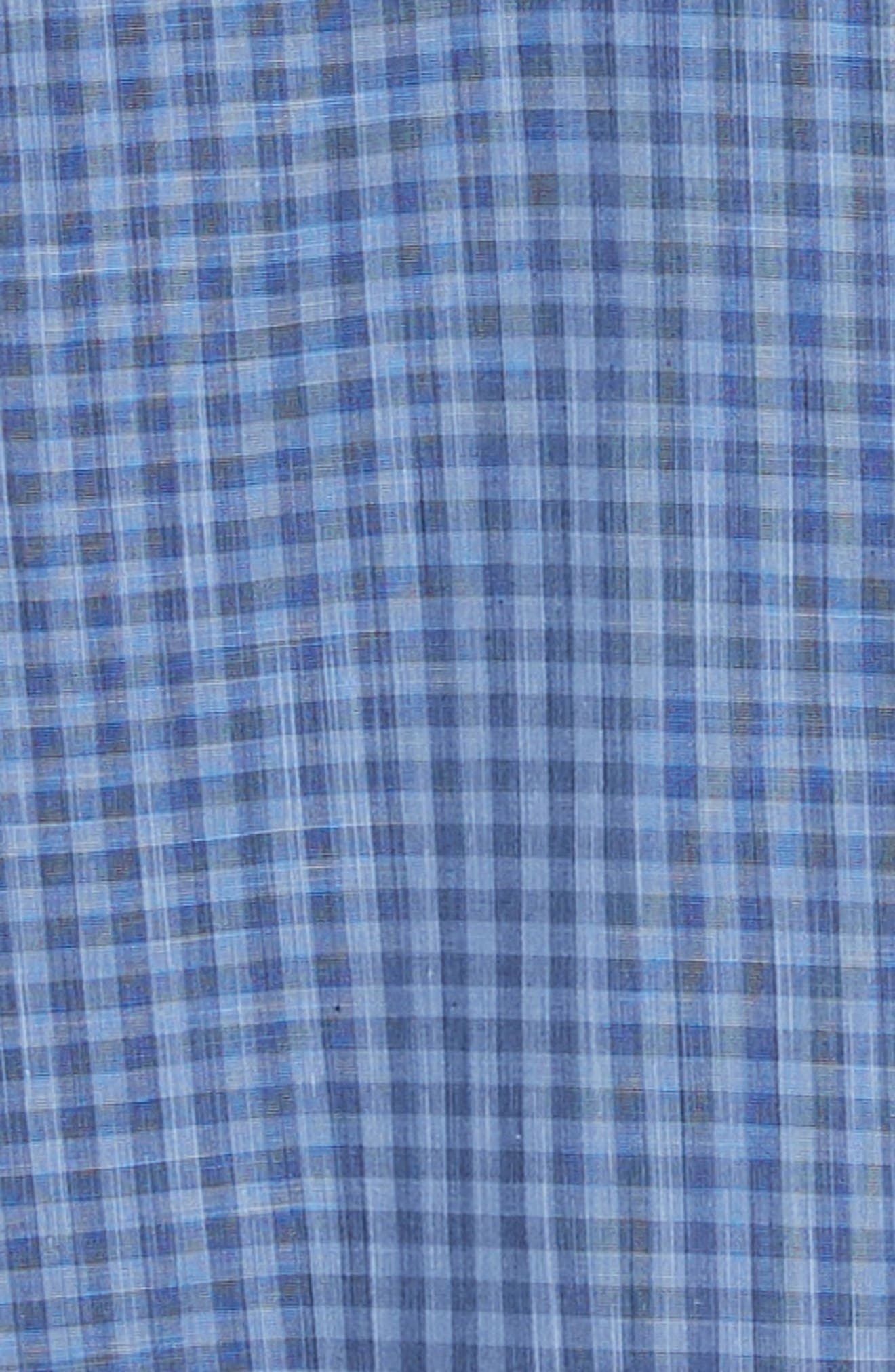 ZACHARY PRELL, Vahid Regular Fit Gingham Sport Shirt, Alternate thumbnail 6, color, BLUE