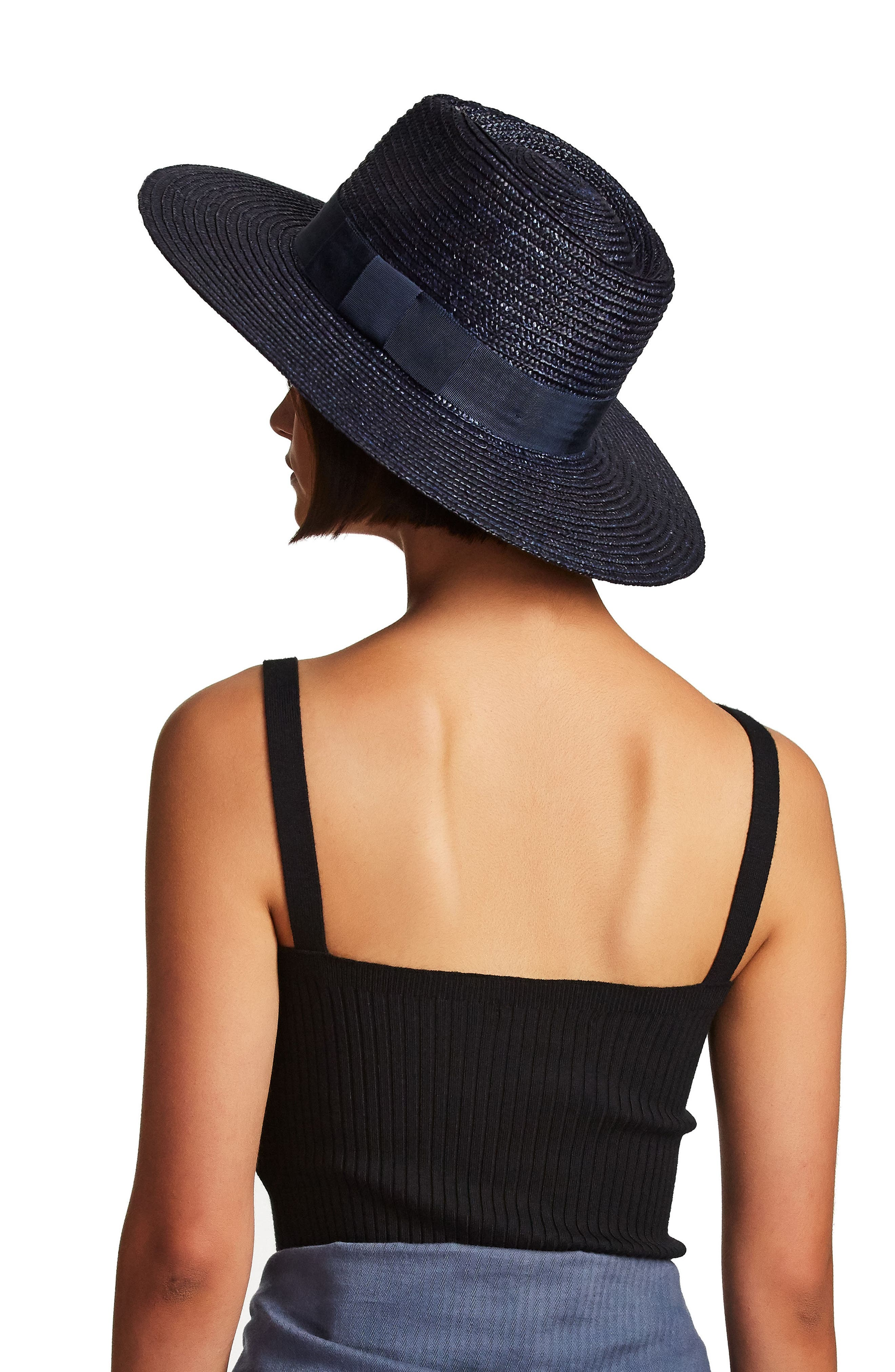 BRIXTON, 'Joanna' Straw Hat, Alternate thumbnail 10, color, LILAC