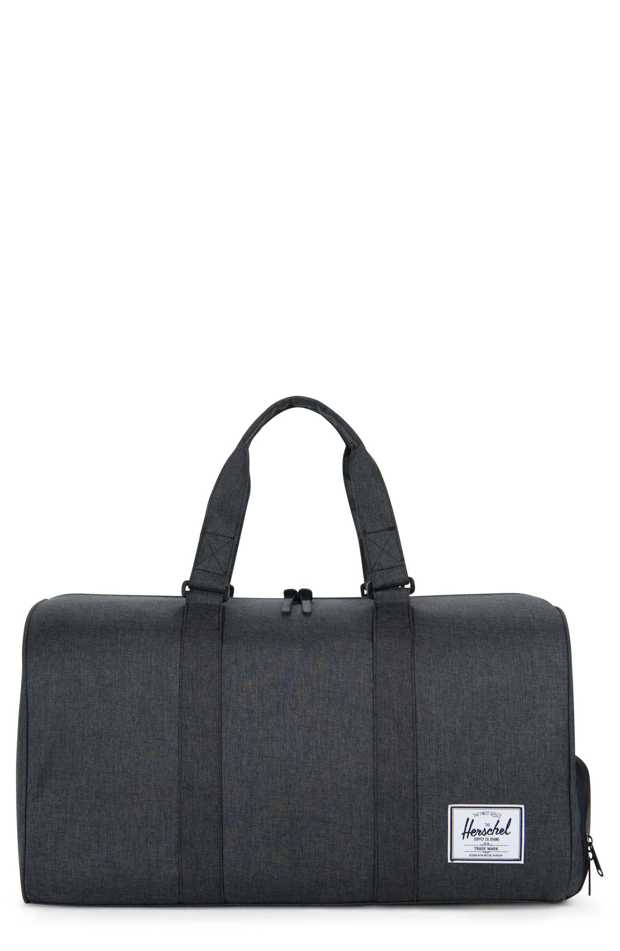 HERSCHEL SUPPLY CO. Novel Duffle Bag, Main, color, BLACK CROSSHATCH