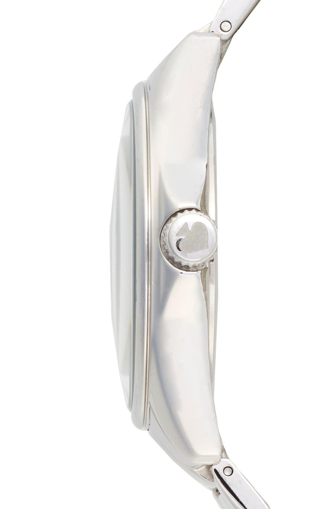 KATE SPADE NEW YORK, 'seaport grand' bracelet watch, 38mm, Alternate thumbnail 2, color, 040