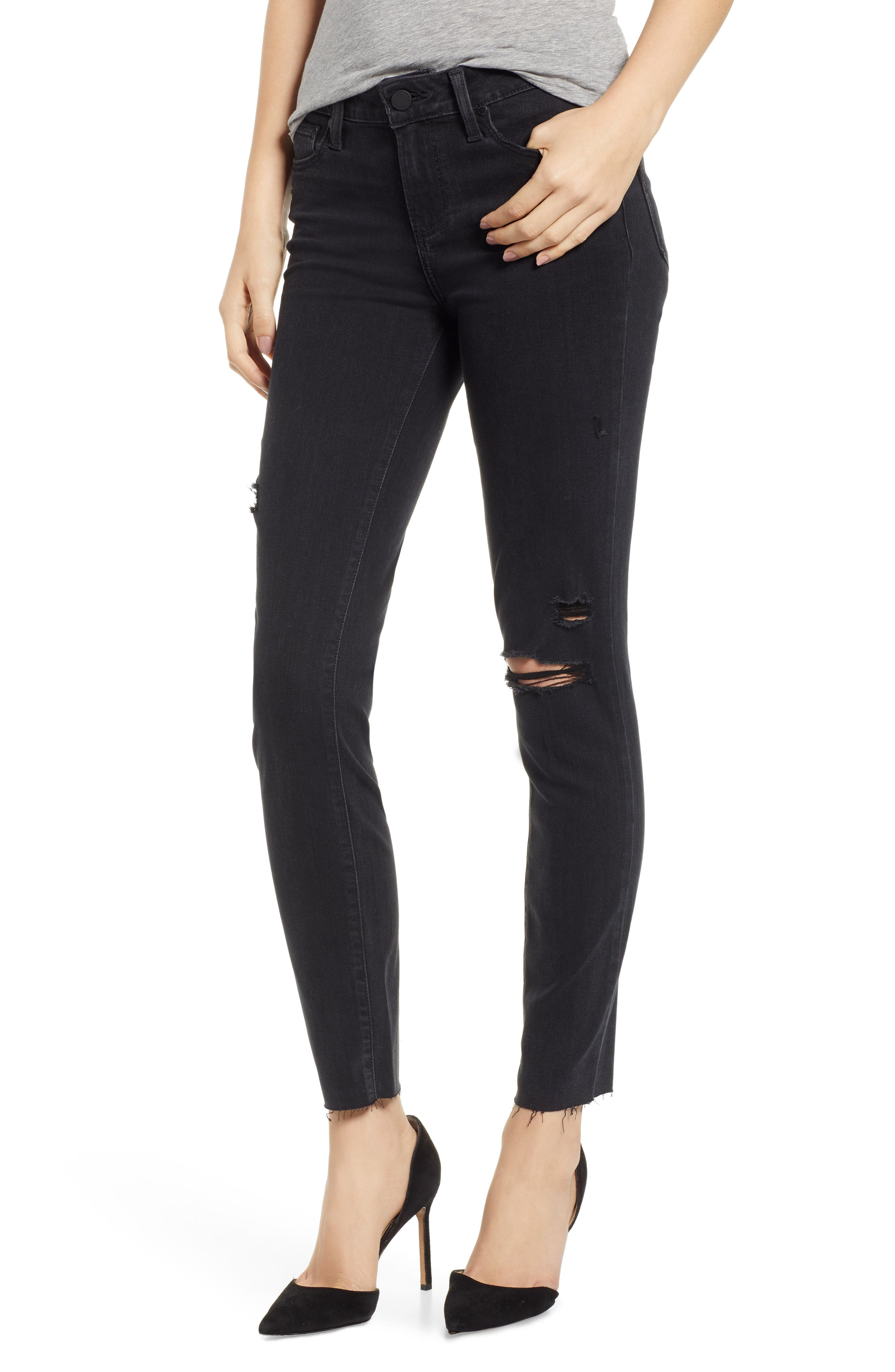 PAIGE, Transcend - Verdugo Ankle Skinny Jeans, Main thumbnail 1, color, 001