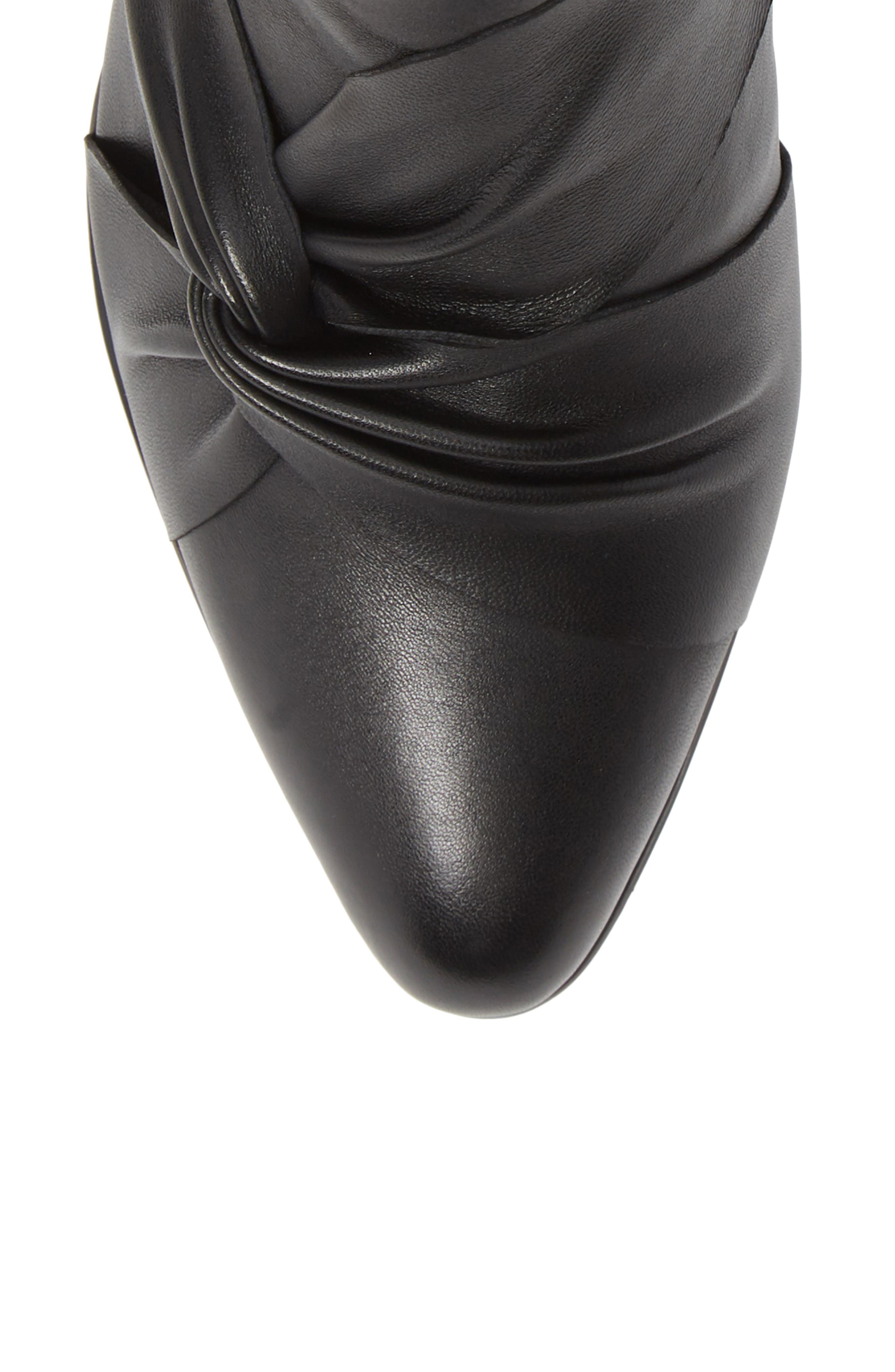 NIC+ZOE, Amorie II Bootie, Alternate thumbnail 5, color, BLACK LEATHER