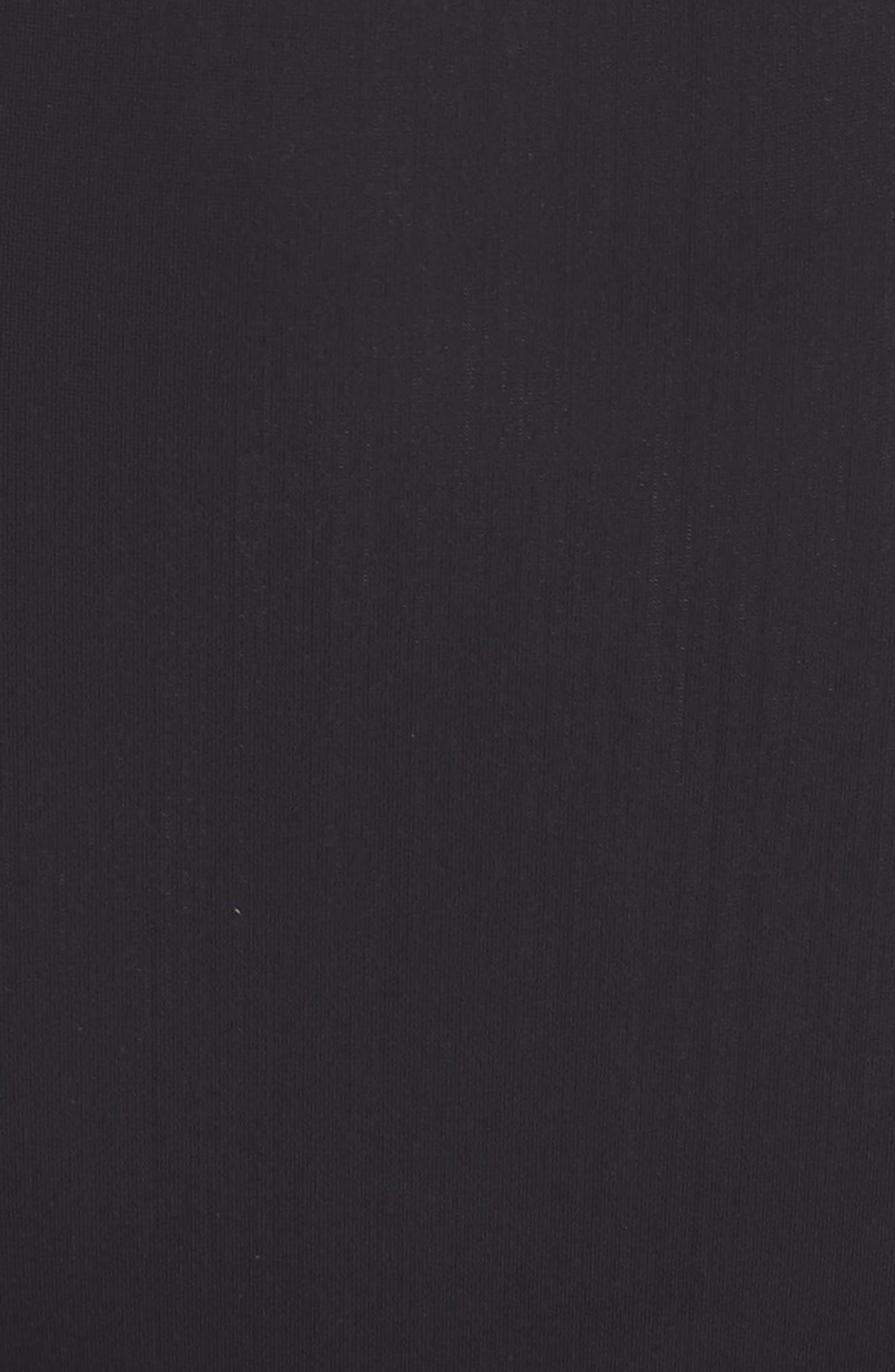 ALPINE BUTTERFLY, Lover High Waist Bikini Bottoms, Alternate thumbnail 6, color, BLACK