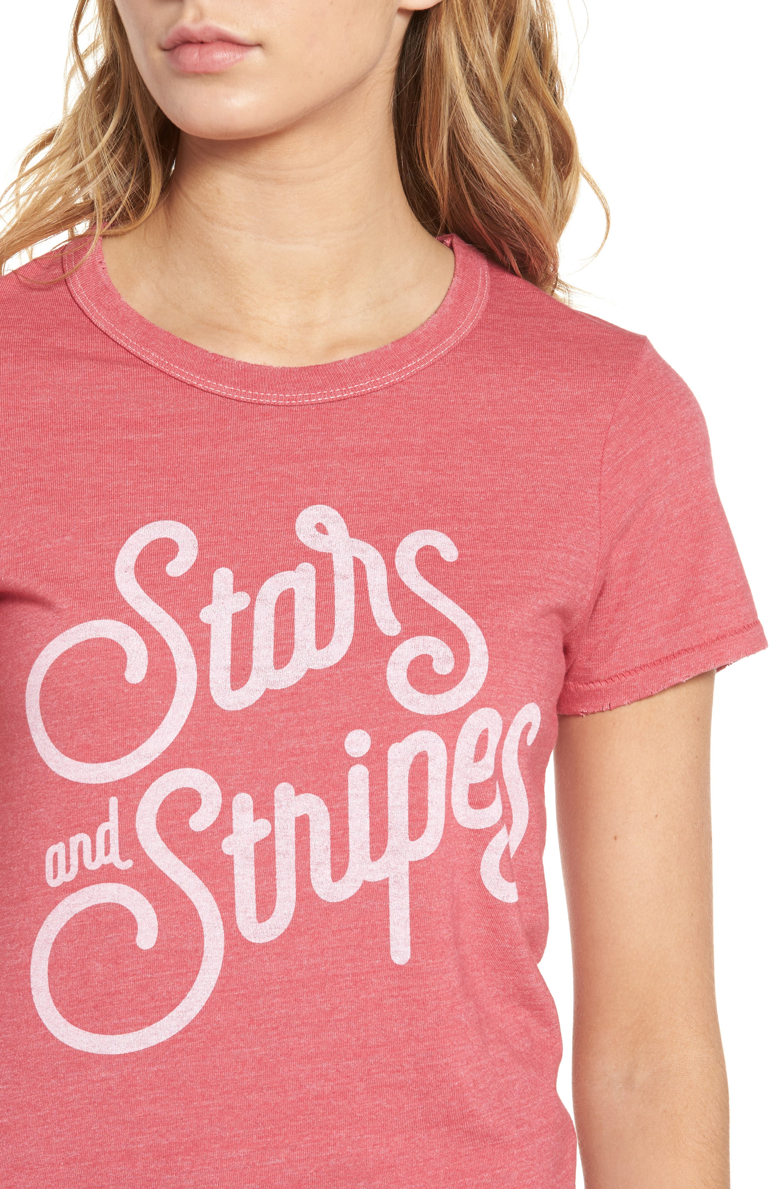 JUNK FOOD, Stars & Stripes Graphic Tee, Alternate thumbnail 4, color, 600
