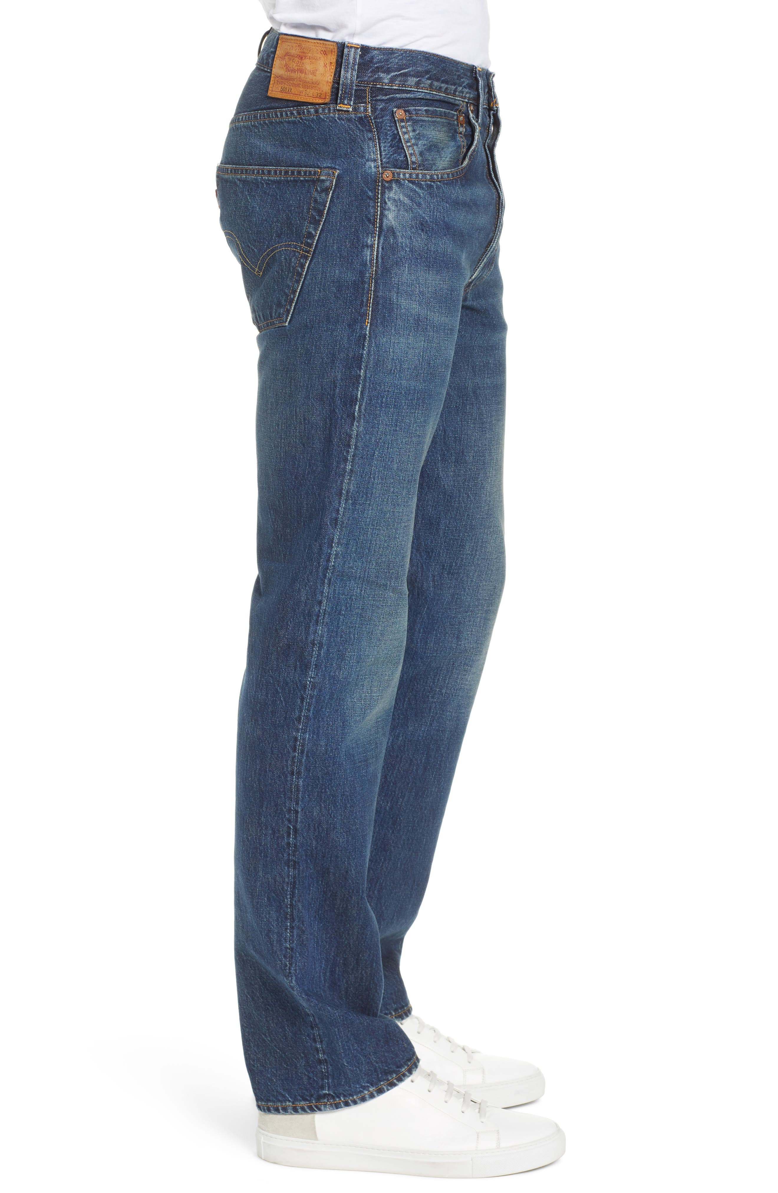 LEVI'S<SUP>®</SUP> VINTAGE CLOTHING, 1947 501<sup>®</sup> Straight Leg Jeans, Alternate thumbnail 3, color, 402