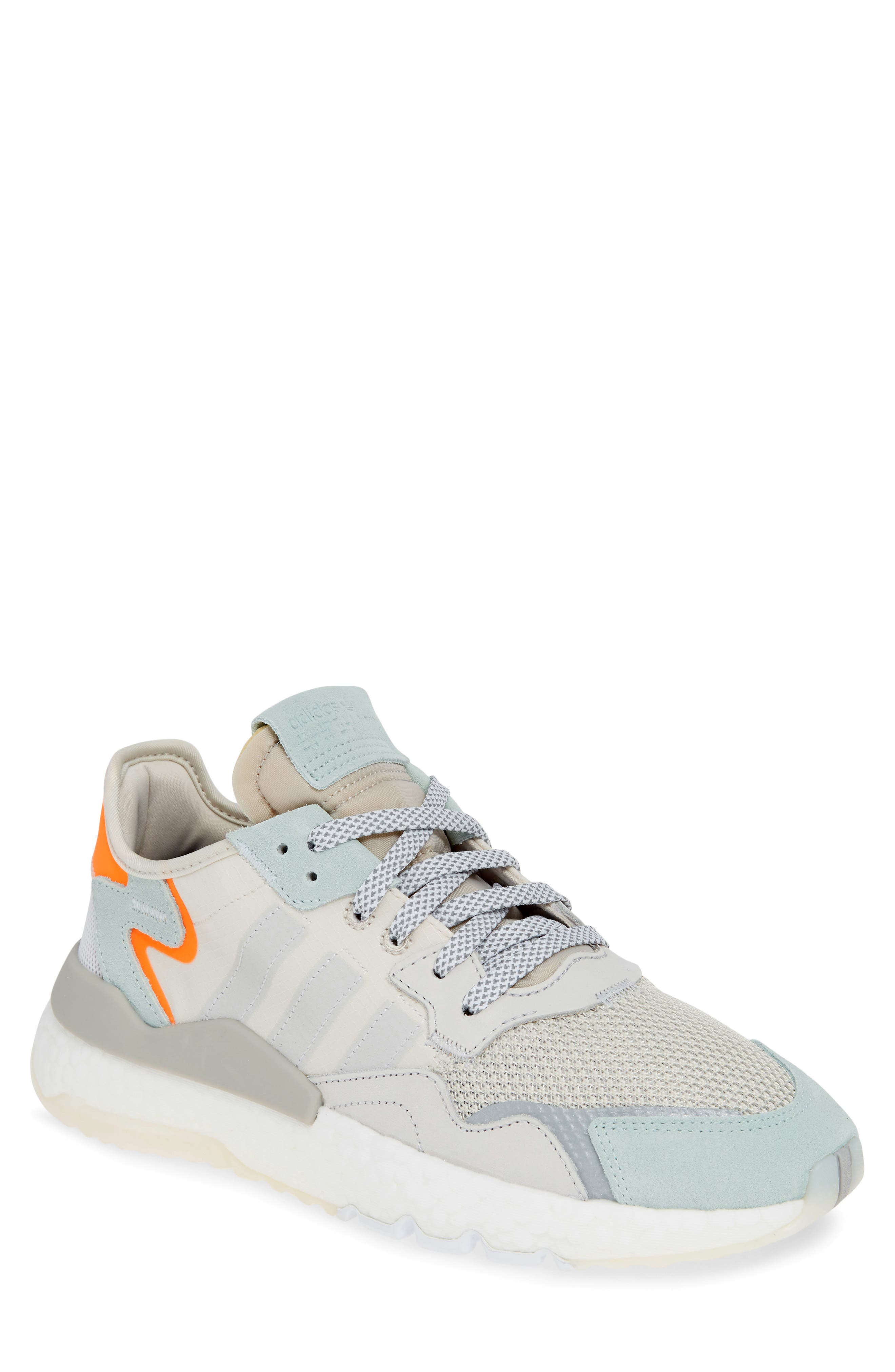 ADIDAS, Nite Jogger Sneaker, Main thumbnail 1, color, RAW WHITE/ GREY/ VAPOR GREEN