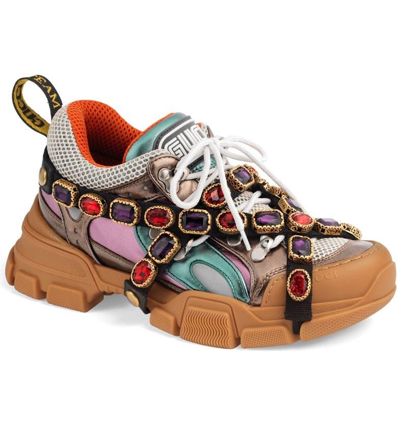 2dbed4cd579 Gucci Flashtrek Jewel Embellished Sneaker (Women)