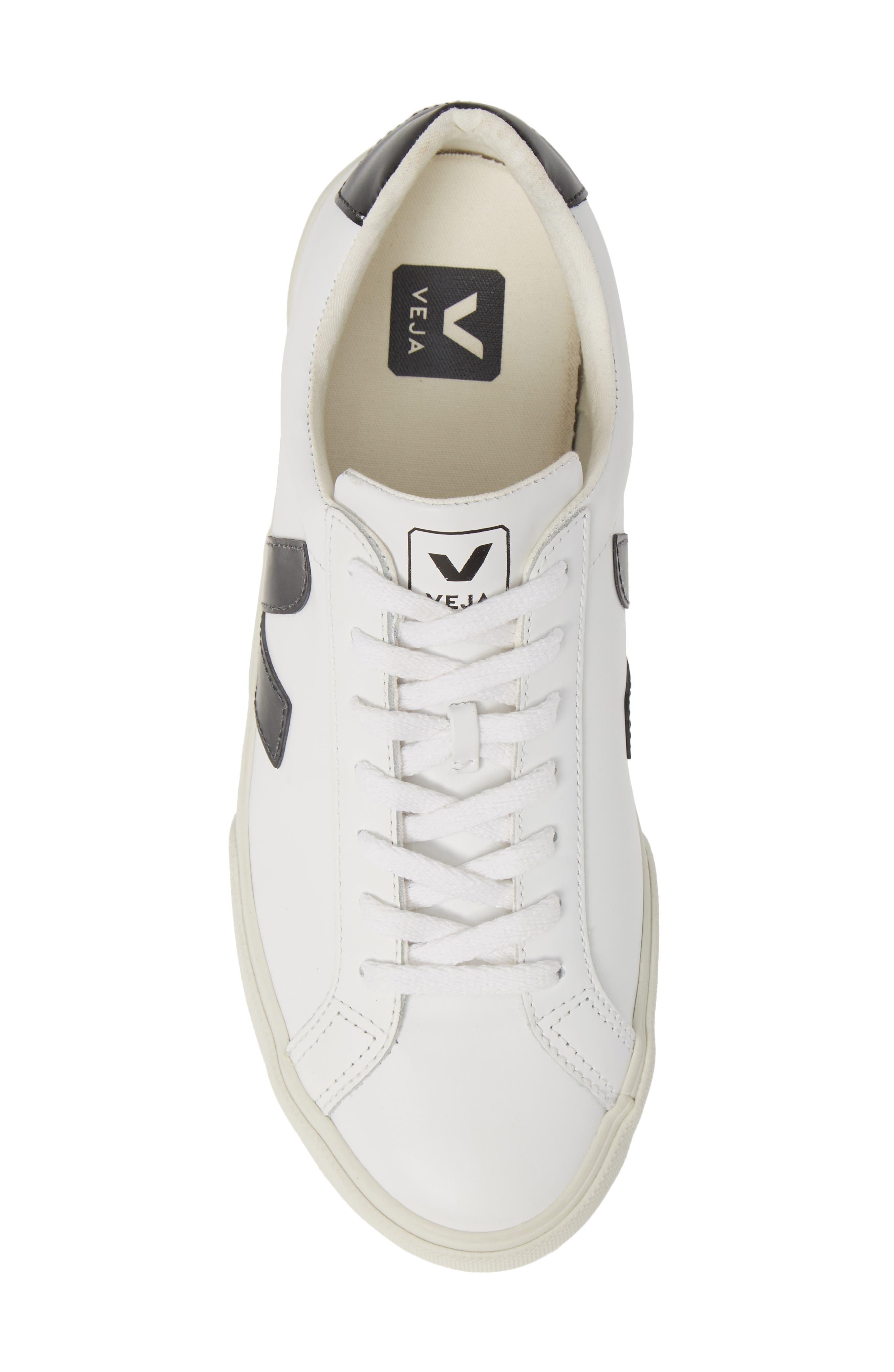 VEJA, Esplar Sneaker, Alternate thumbnail 5, color, EXTRA WHITE BLACK