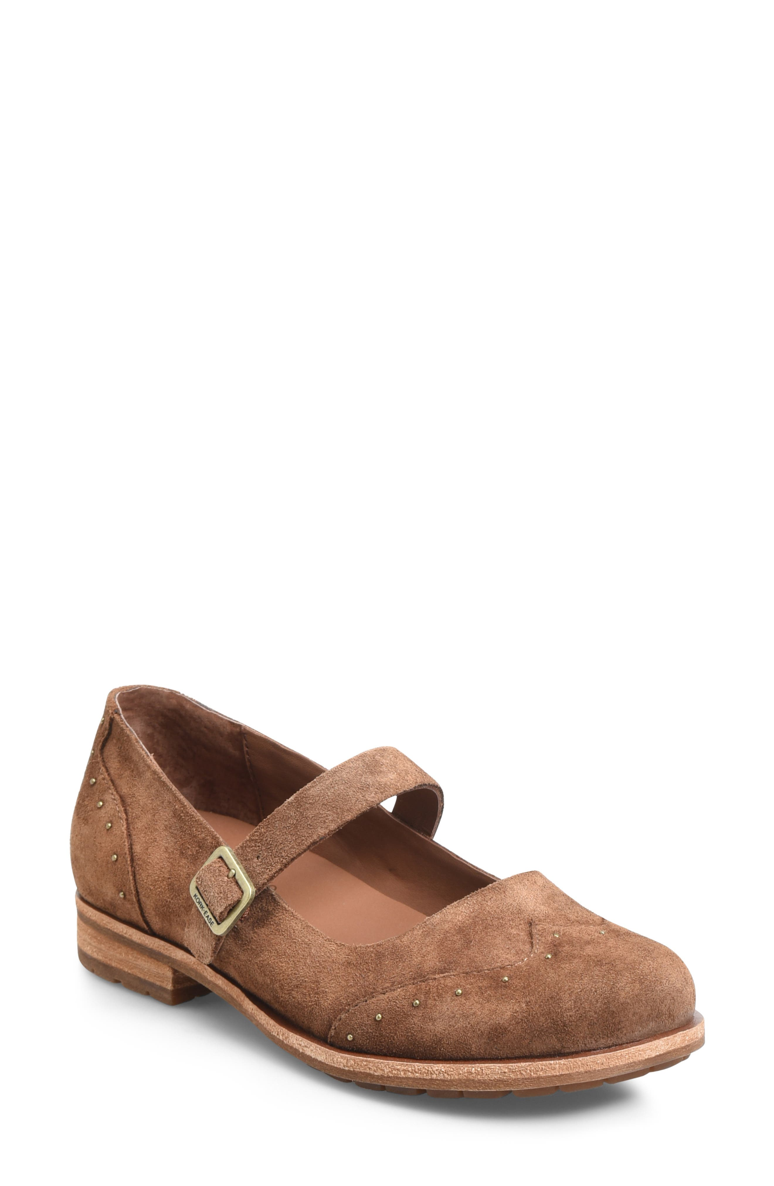 Kork-Ease Brystal Mary Jane Flat- Brown