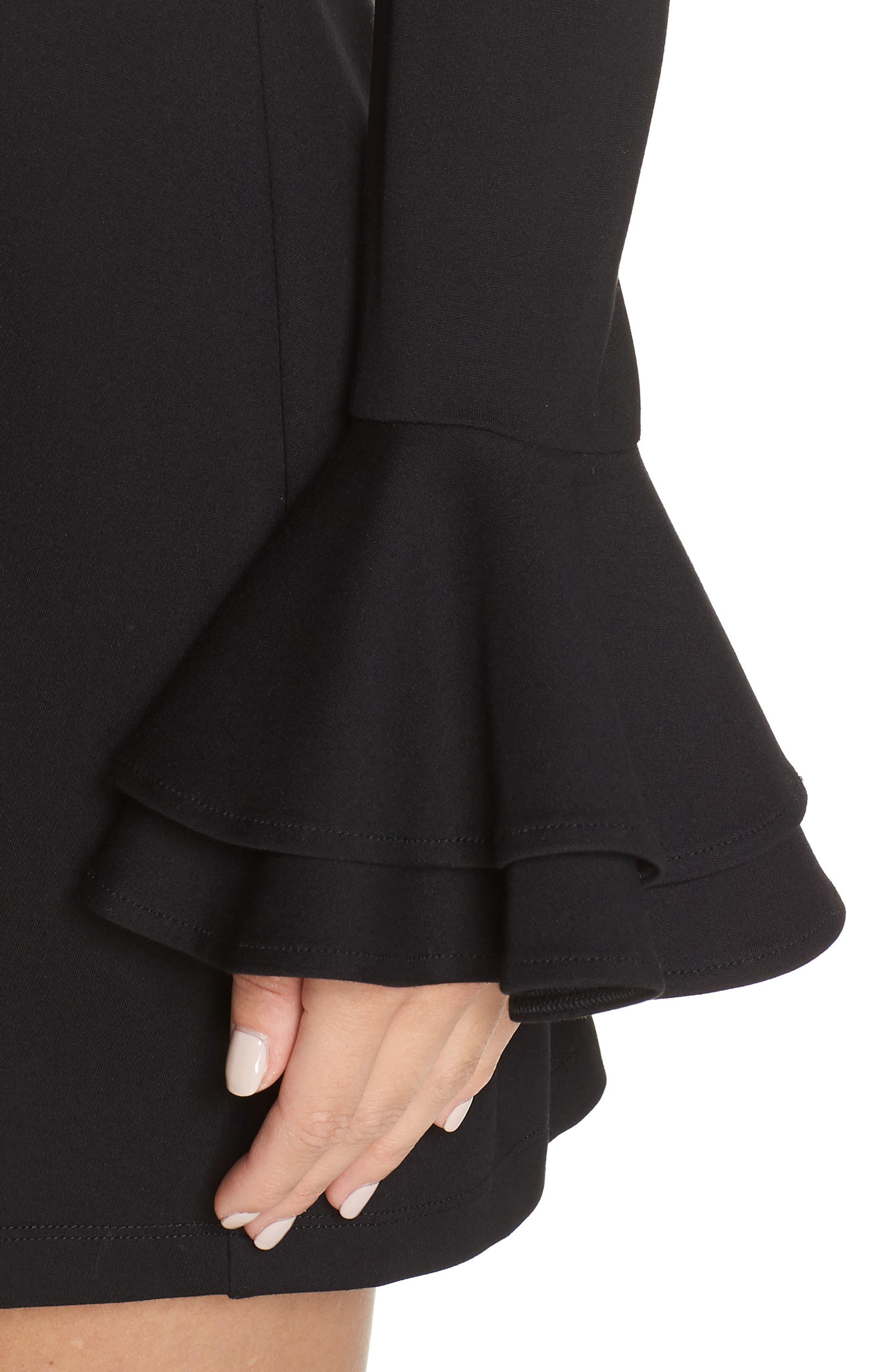 ALI & JAY, Still Waiting Fit & Flare Dress, Alternate thumbnail 5, color, BLACK