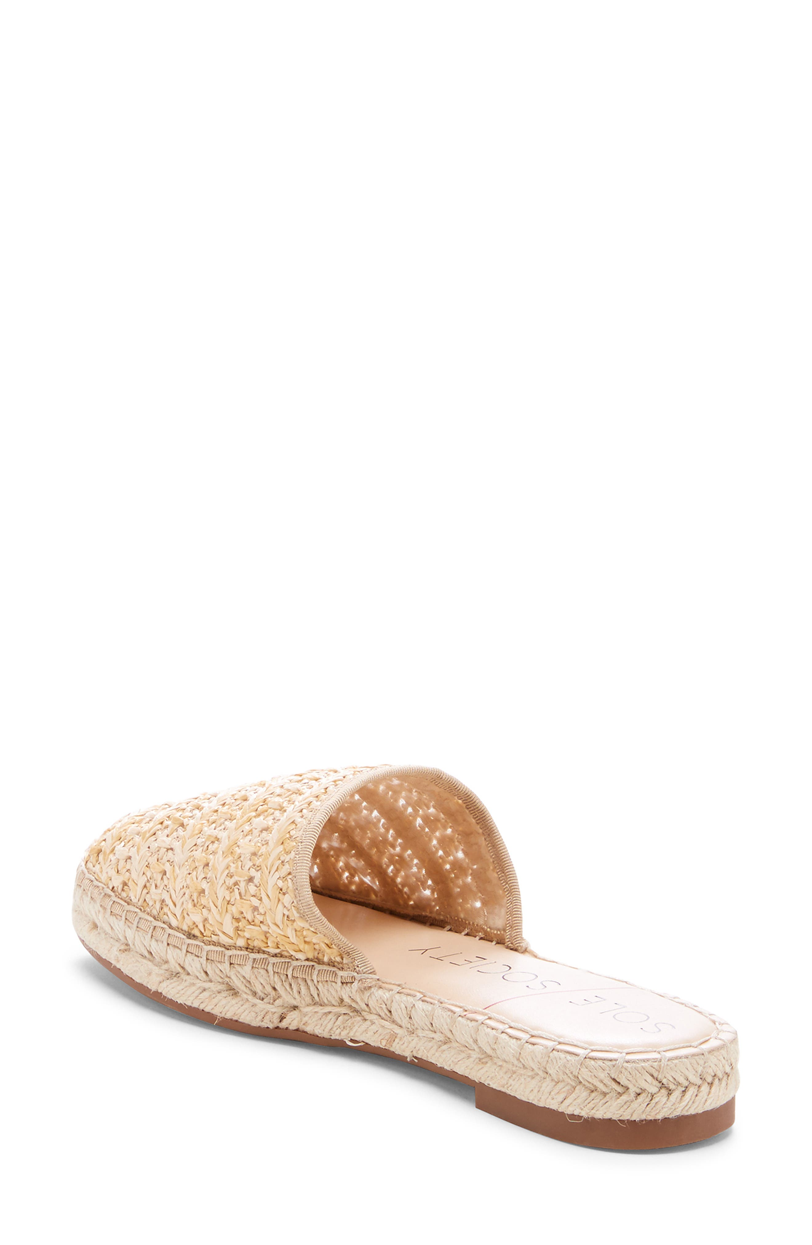 SOLE SOCIETY, Sadelle Espadrille Mule, Alternate thumbnail 2, color, NATURAL FABRIC