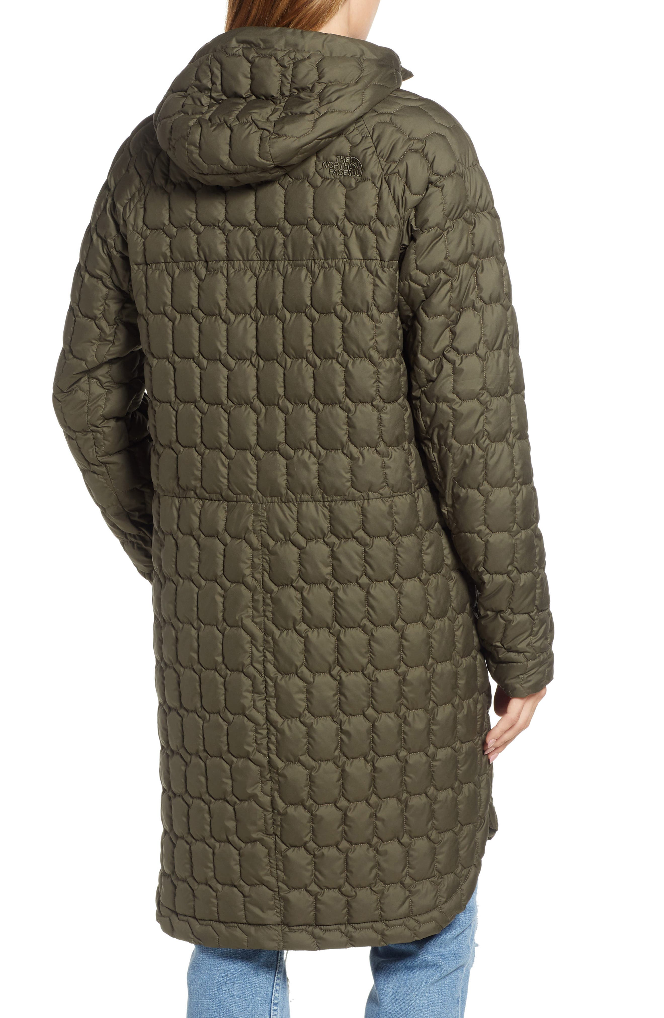 THE NORTH FACE, Thermoball<sup>™</sup> Water Resistant Duster Jacket, Alternate thumbnail 4, color, 301