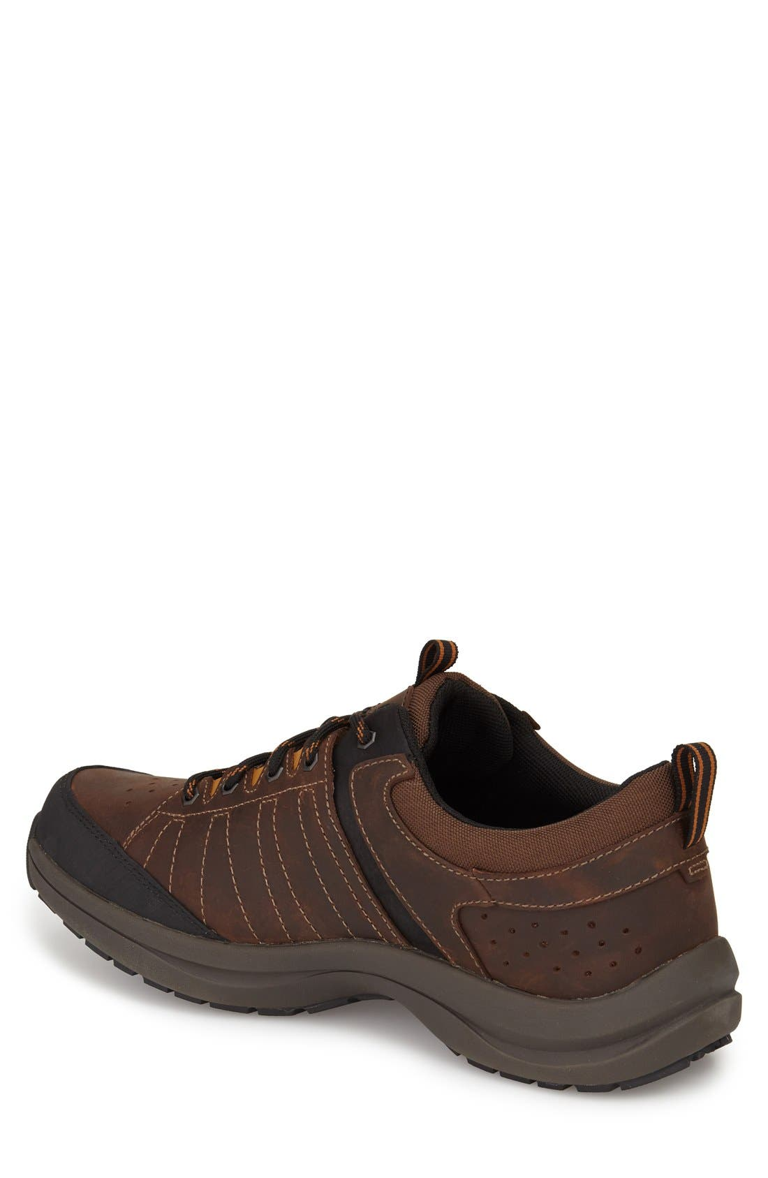 DUNHAM, Seth-Dun Waterproof Sneaker, Alternate thumbnail 2, color, BROWN LEATHER