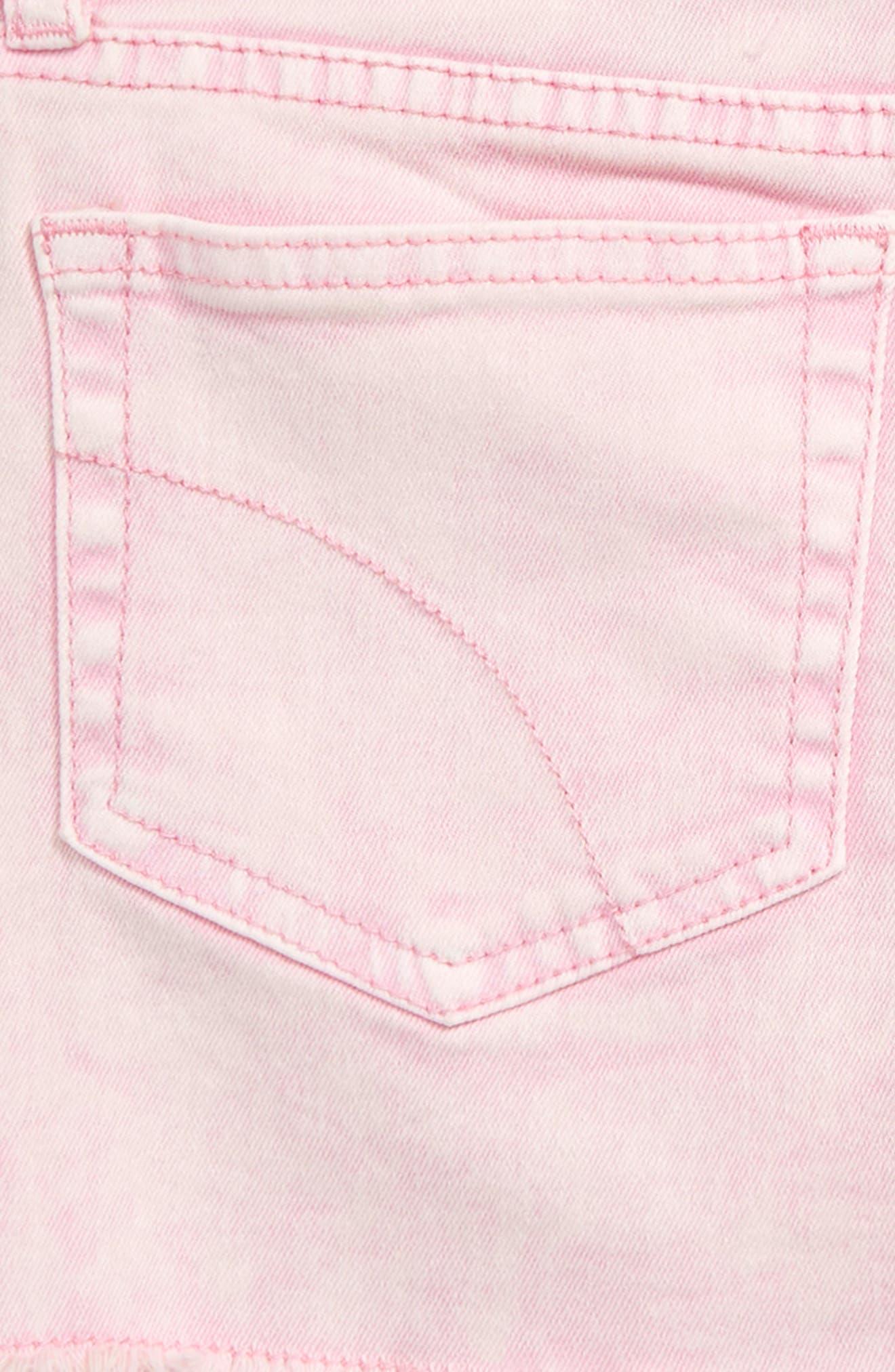 JOE'S, The Markie Cutoff Denim Shorts, Alternate thumbnail 3, color, PRISM PINK