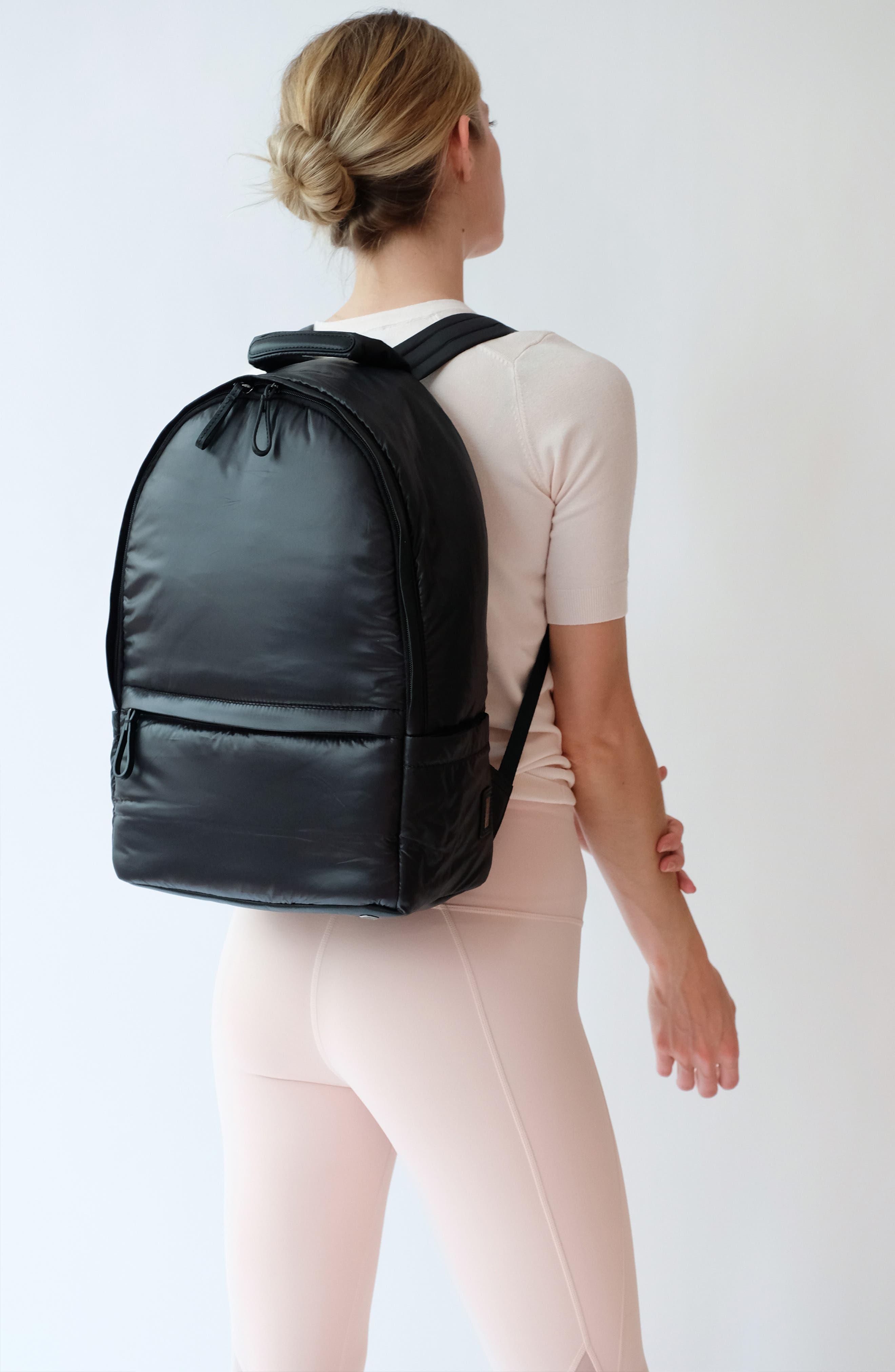 CARAA, Stratus Waterproof Backpack, Alternate thumbnail 2, color, BLACK