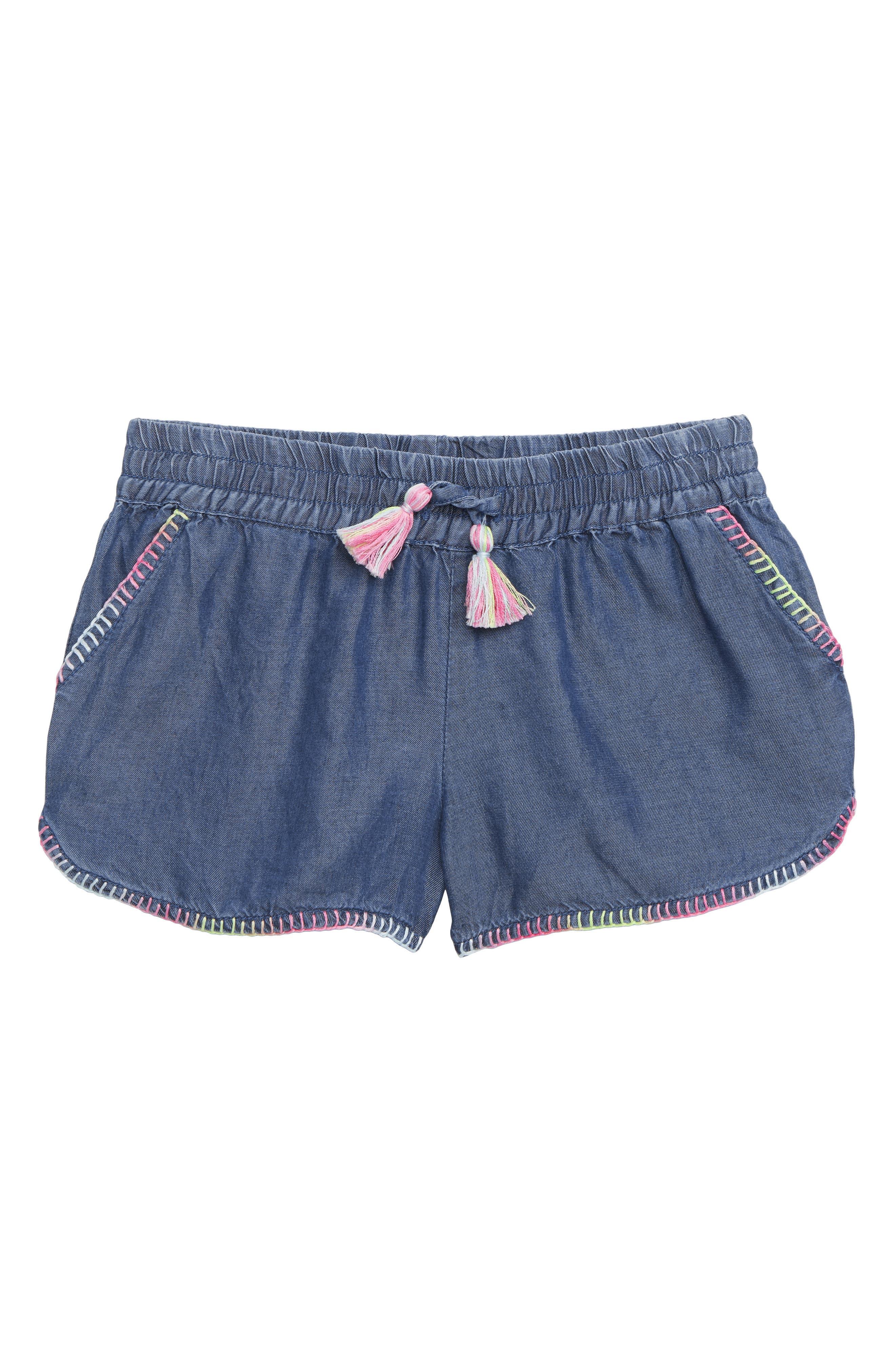 Girls Peek ArenT You Curious Farrah Tassel Shorts Size 10  Blue