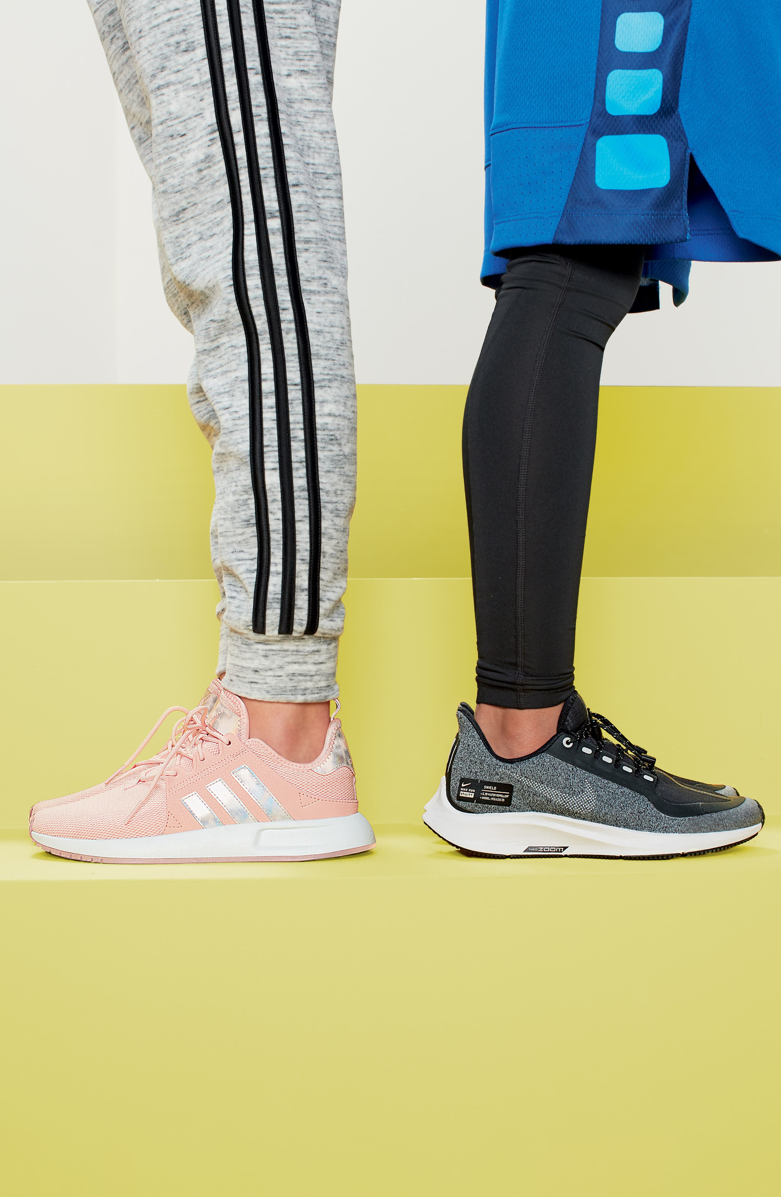 ADIDAS, X_PLR Sneaker, Alternate thumbnail 8, color, ICE PINK/ WHITE
