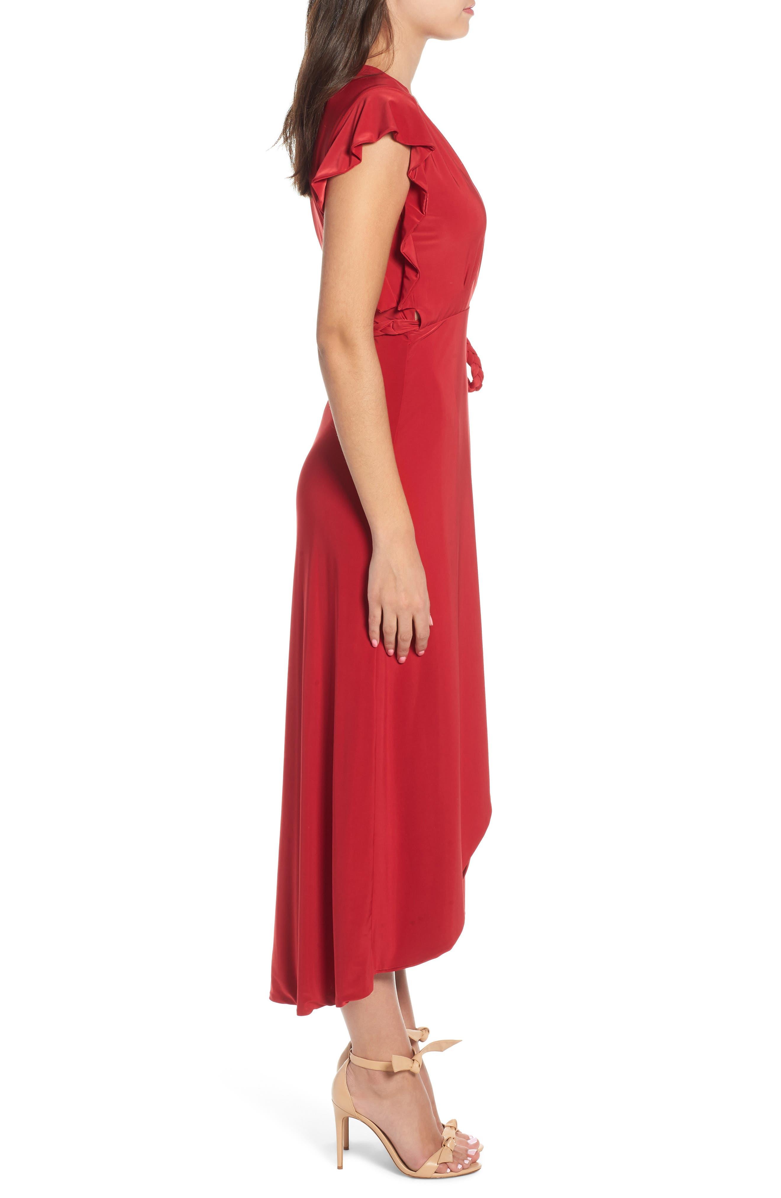 MISA LOS ANGELES, Irina Dress, Alternate thumbnail 4, color, RED