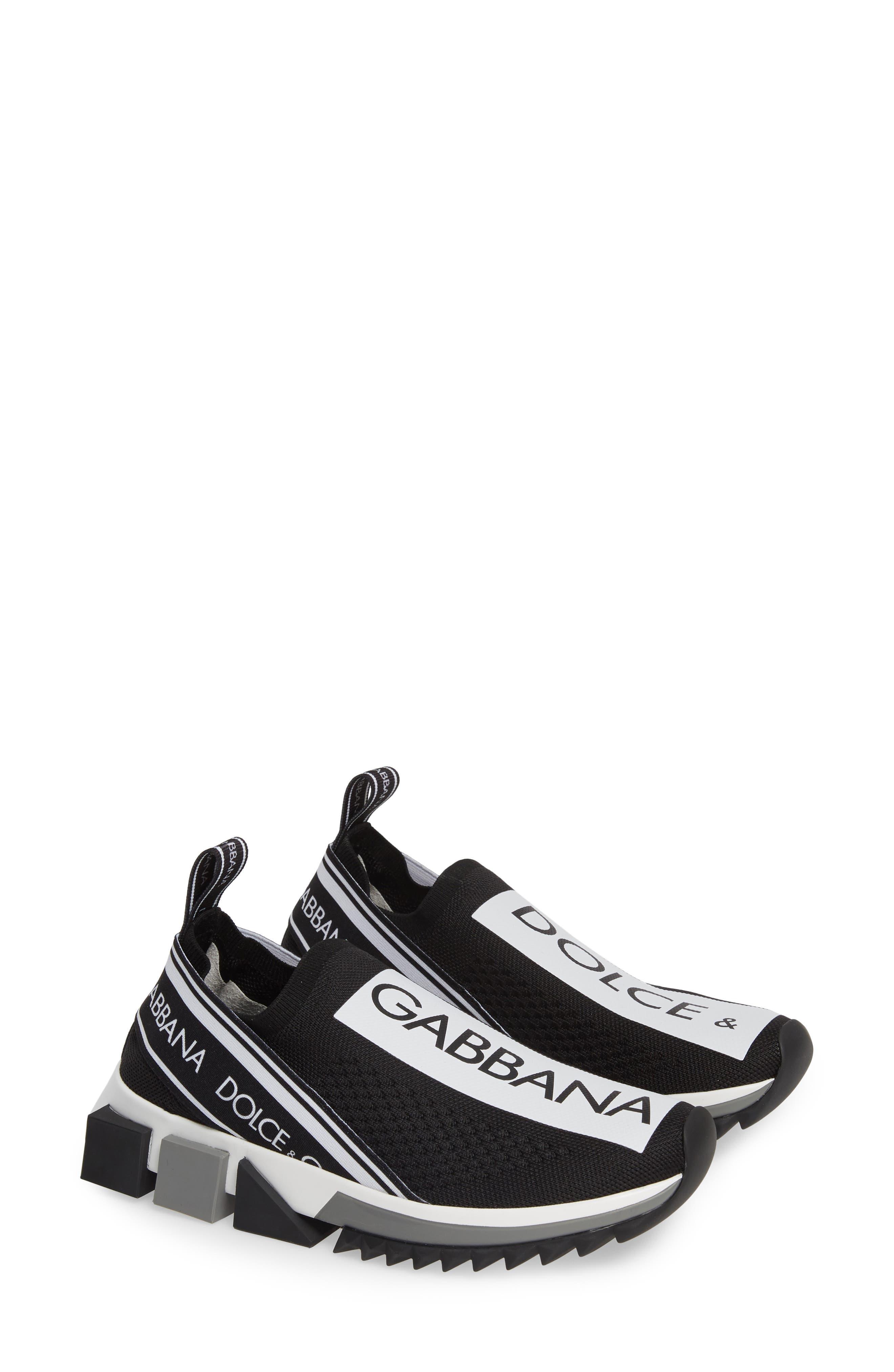 DOLCE&GABBANA, Sorrento Logo Slip-On Sneaker, Alternate thumbnail 2, color, 002