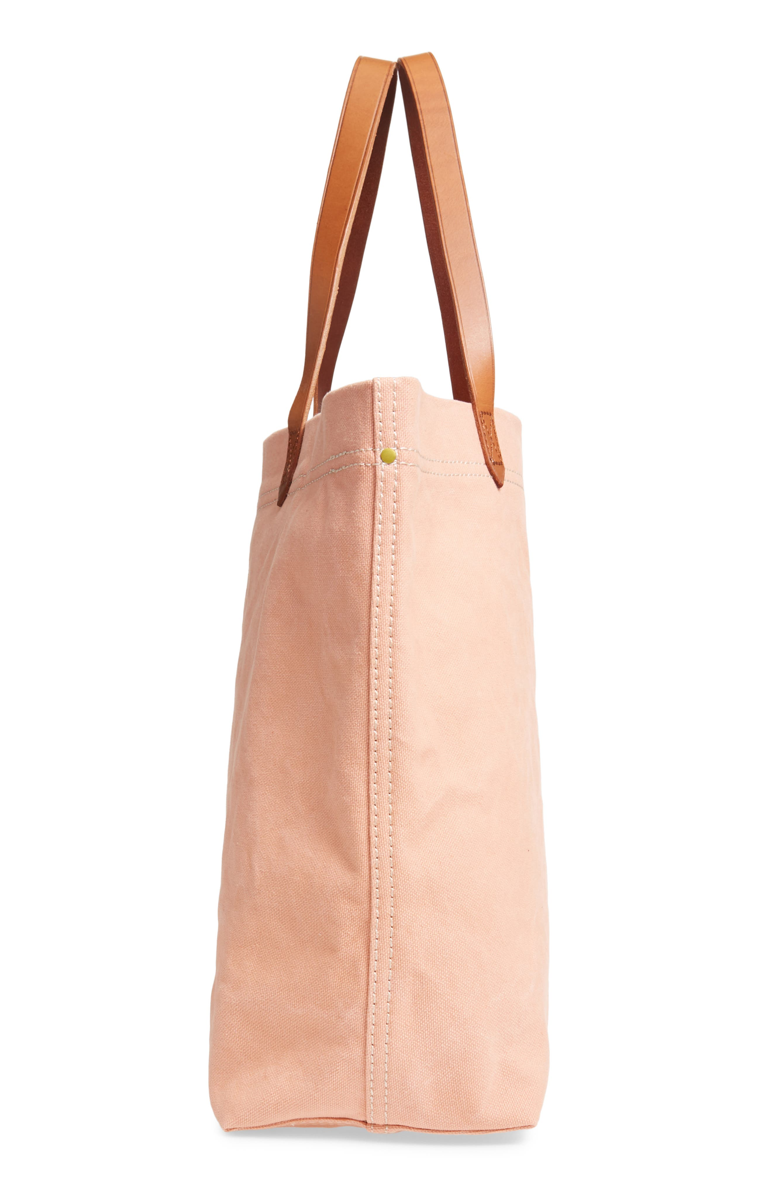 MADEWELL, Canvas Transport Tote, Alternate thumbnail 5, color, ANTIQUE CORAL