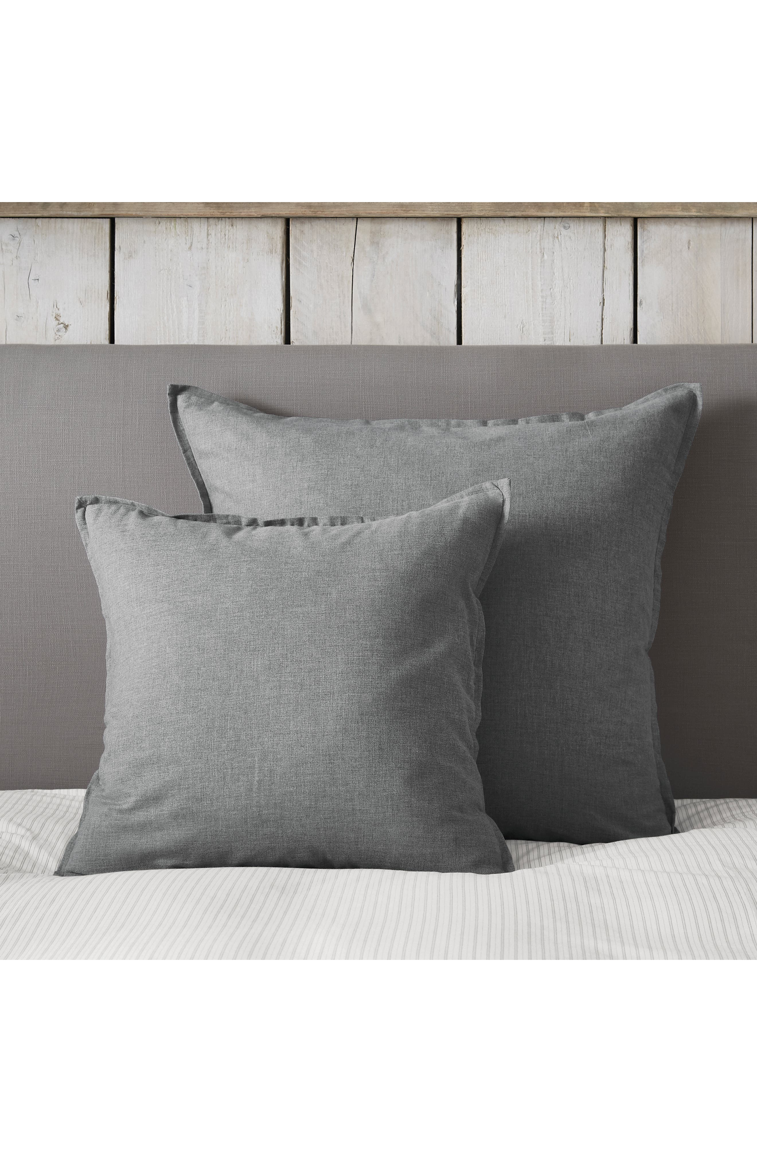 THE WHITE COMPANY, Clevedon Brushed Cushion Cover, Main thumbnail 1, color, STORM GREY