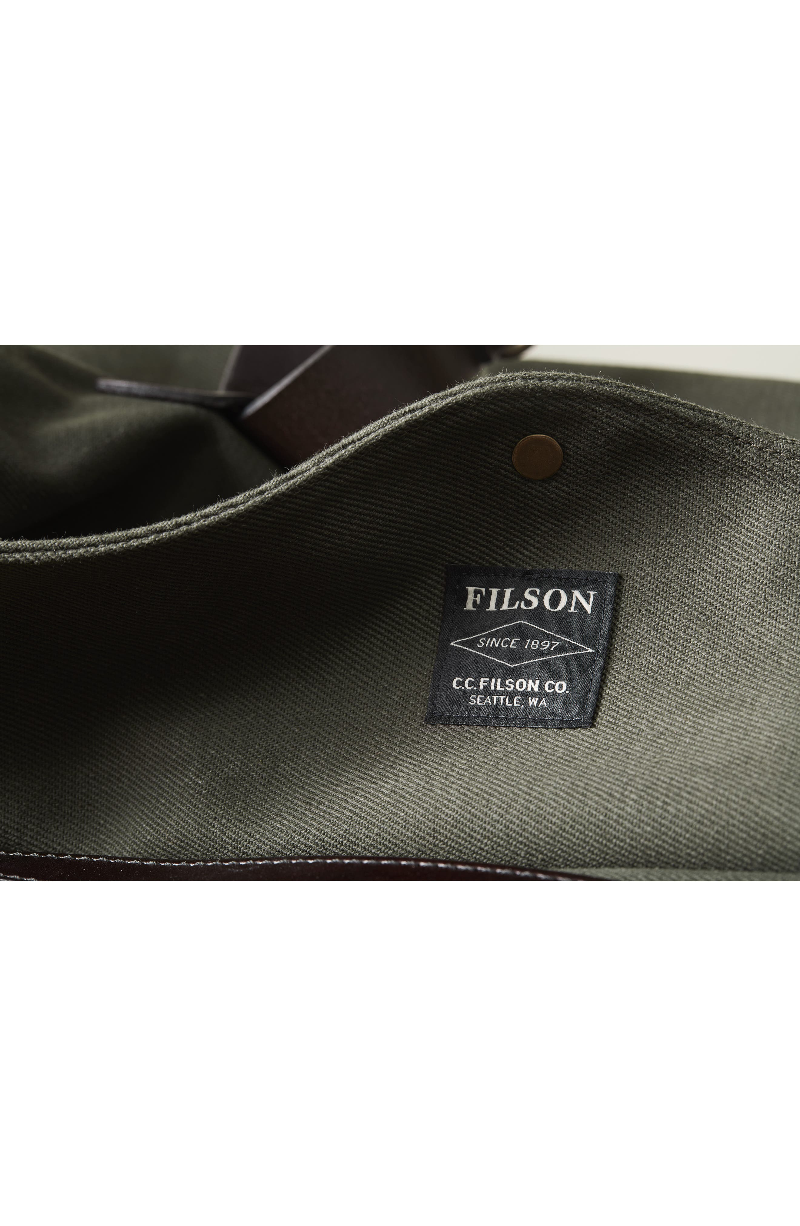 FILSON, Medium Duffle Bag, Alternate thumbnail 12, color, CINDER
