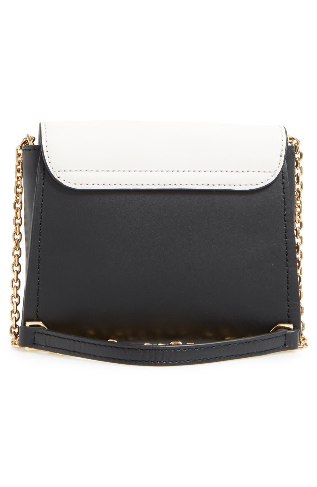LOUISE ET CIE, 'Towa Micro' Colorblock Leather Bag, Alternate thumbnail 5, color, 100
