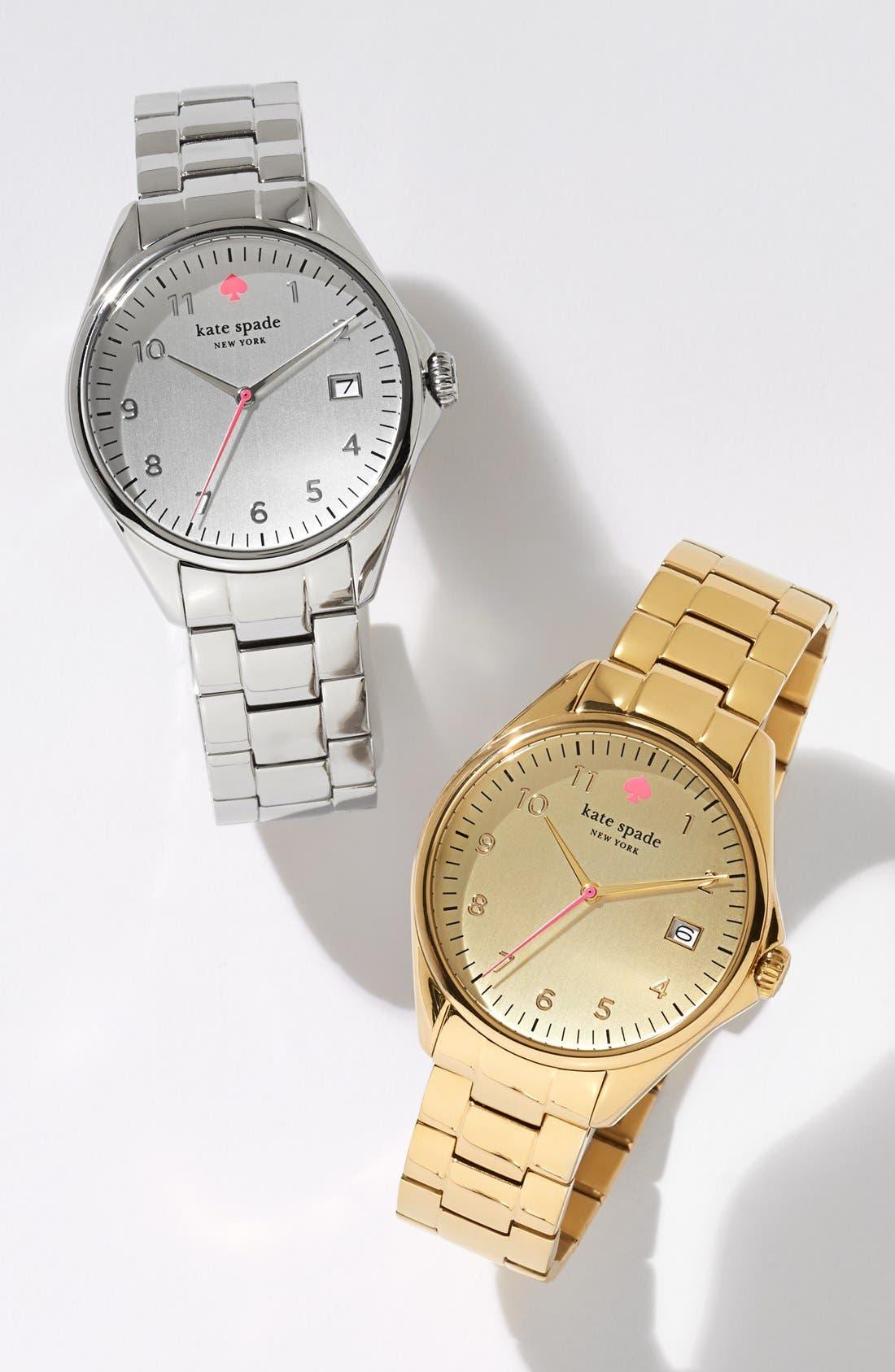 KATE SPADE NEW YORK, 'seaport grand' bracelet watch, 38mm, Alternate thumbnail 4, color, 040