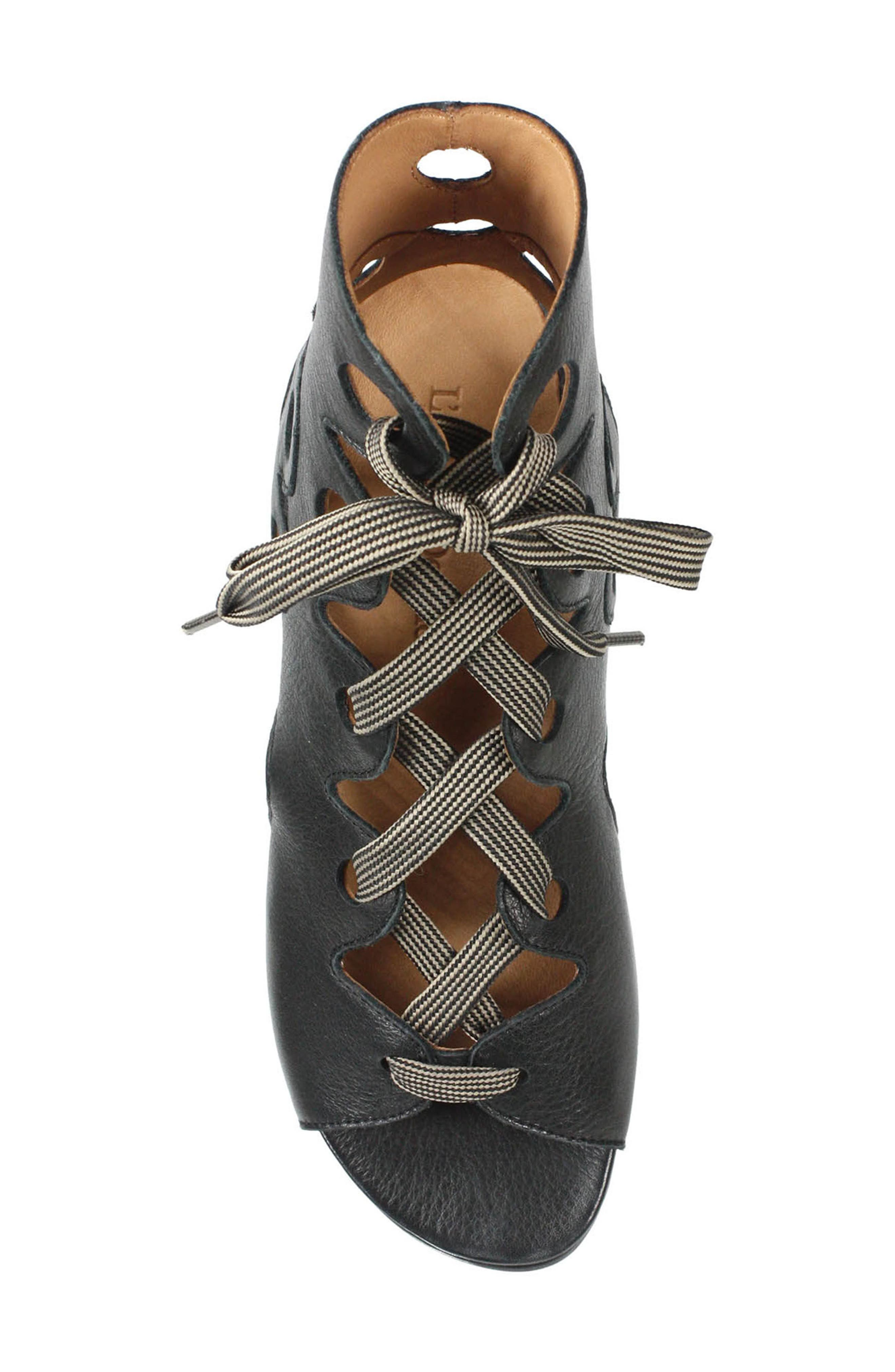 L'AMOUR DES PIEDS, Dionisa Sandal, Alternate thumbnail 5, color, BLACK LEATHER