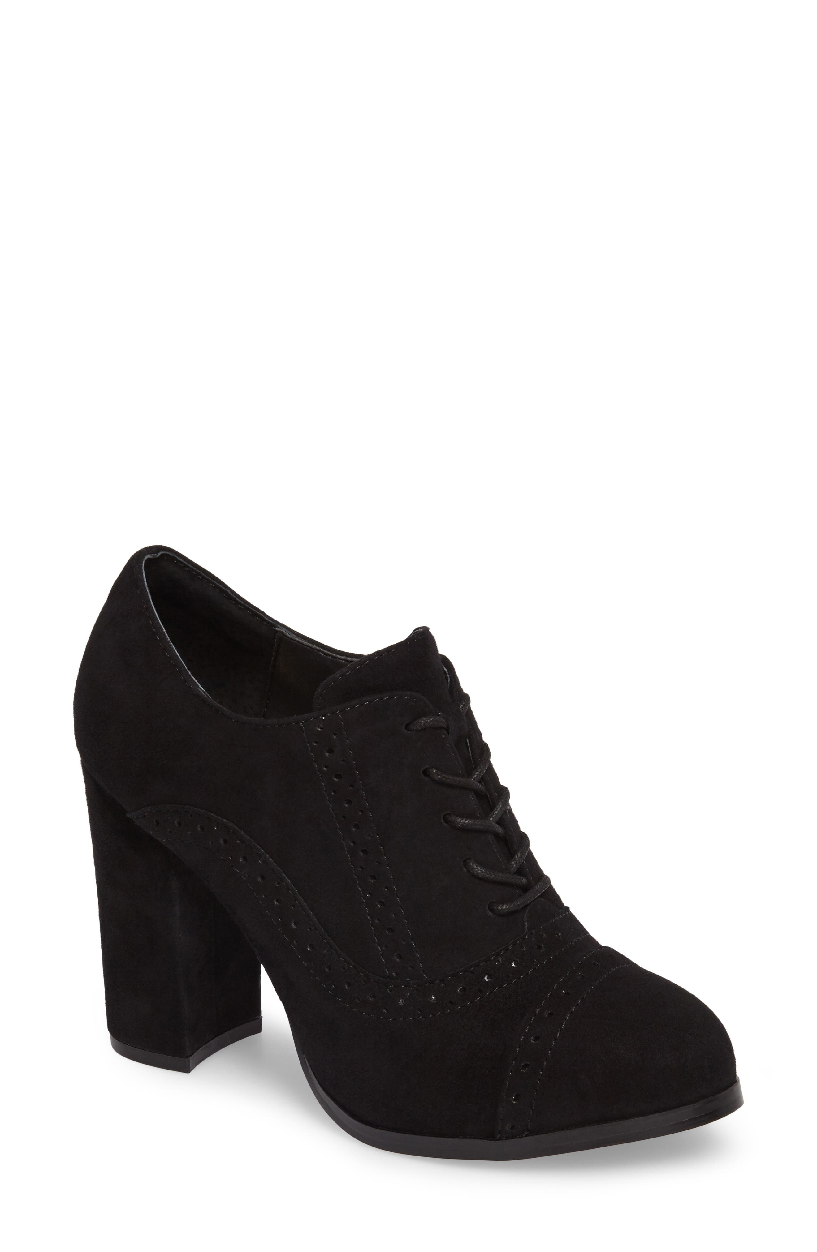 ISOLÁ, Holli Oxford Pump, Main thumbnail 1, color, BLACK SUEDE