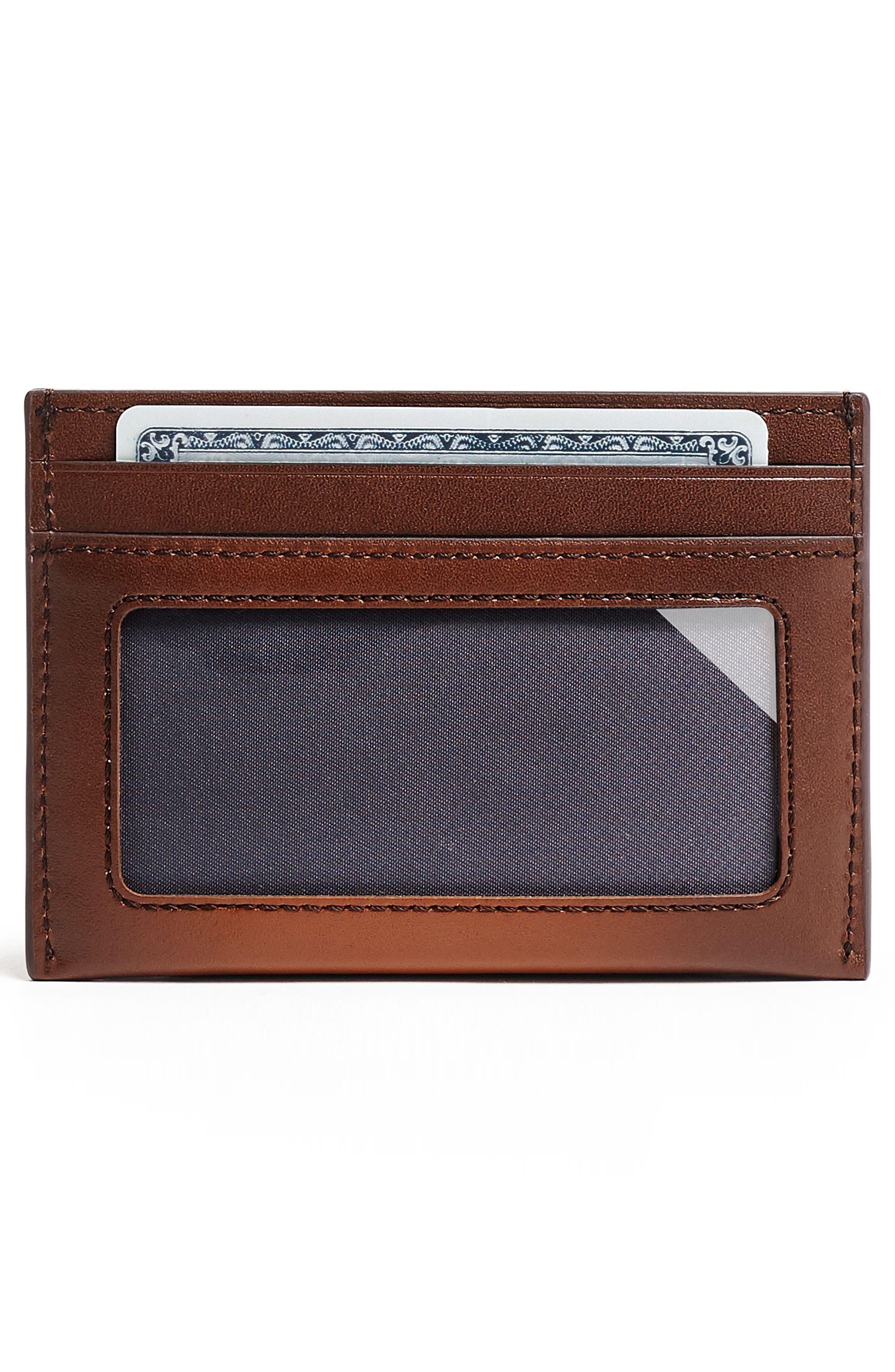 TUMI, Nassau RFID Leather Card Case, Alternate thumbnail 2, color, WHISKEY BURNISHED