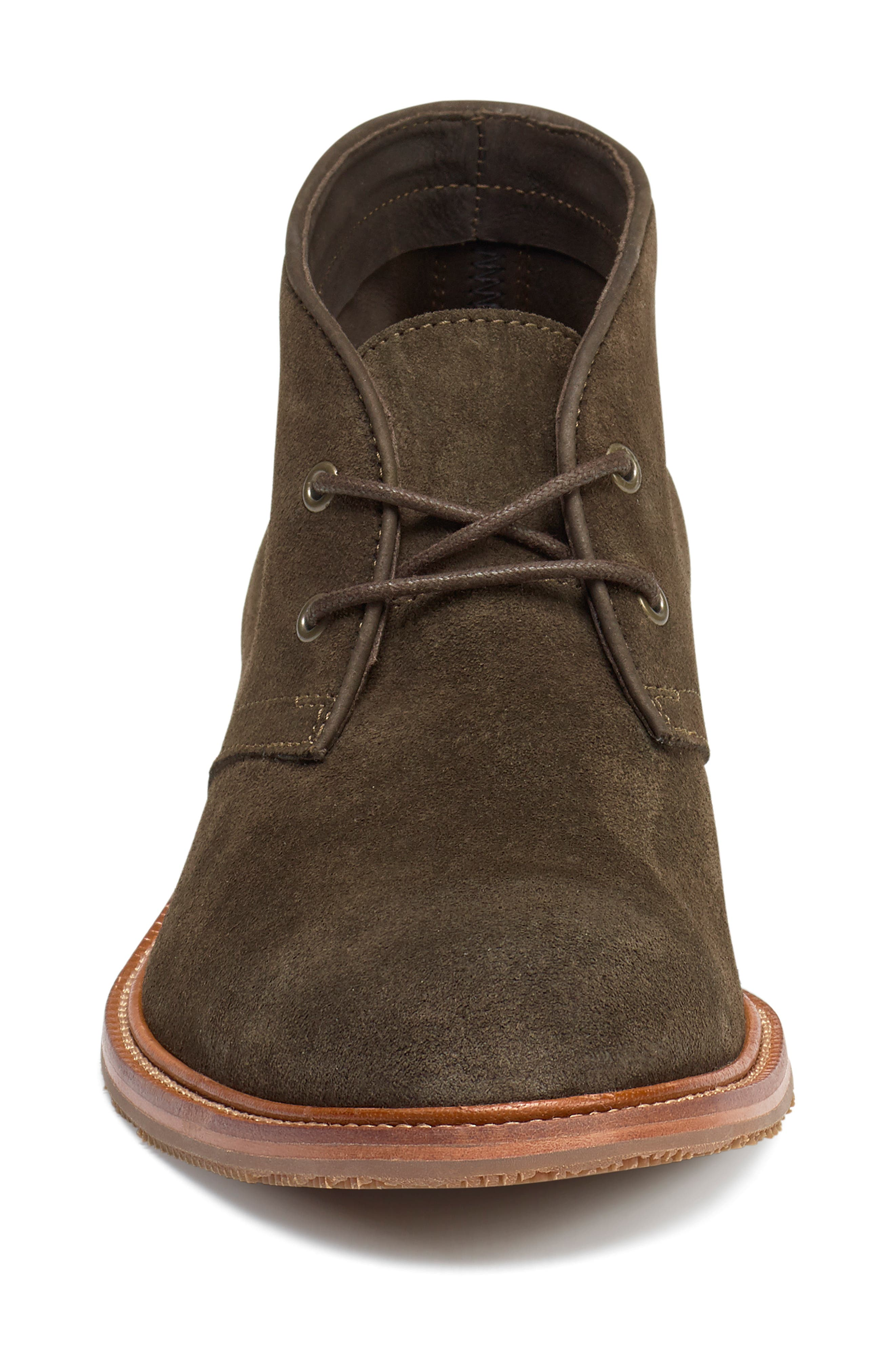 TRASK, Landers Chukka Boot, Alternate thumbnail 4, color, OLIVE SUEDE
