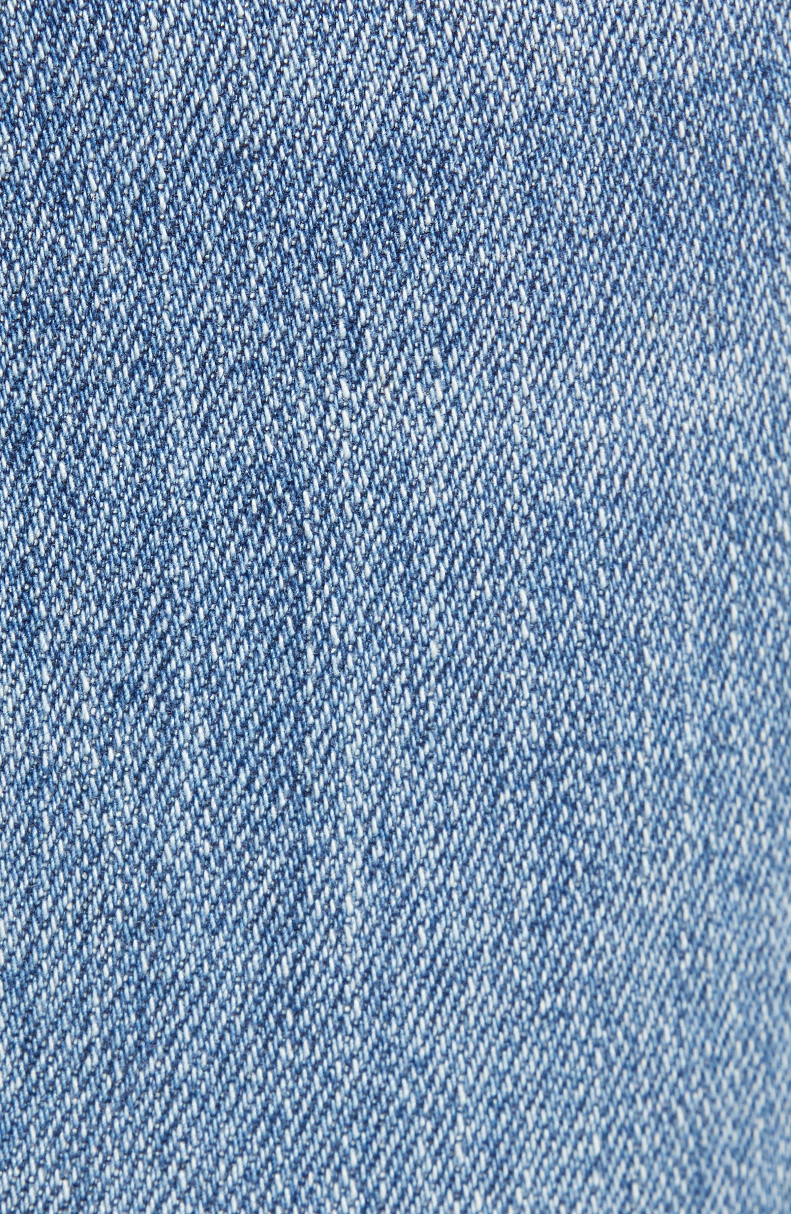 PROSPERITY DENIM, Pintuck Flare Jeans, Alternate thumbnail 6, color, KARLA WASH