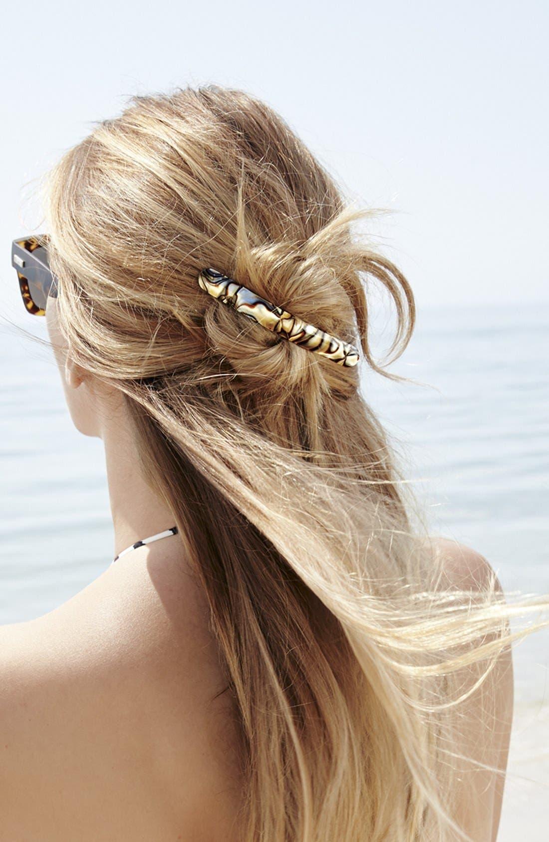 FICCARE, 'Ficcarissimo' Hair Clip, Alternate thumbnail 3, color, GOLD MATTE