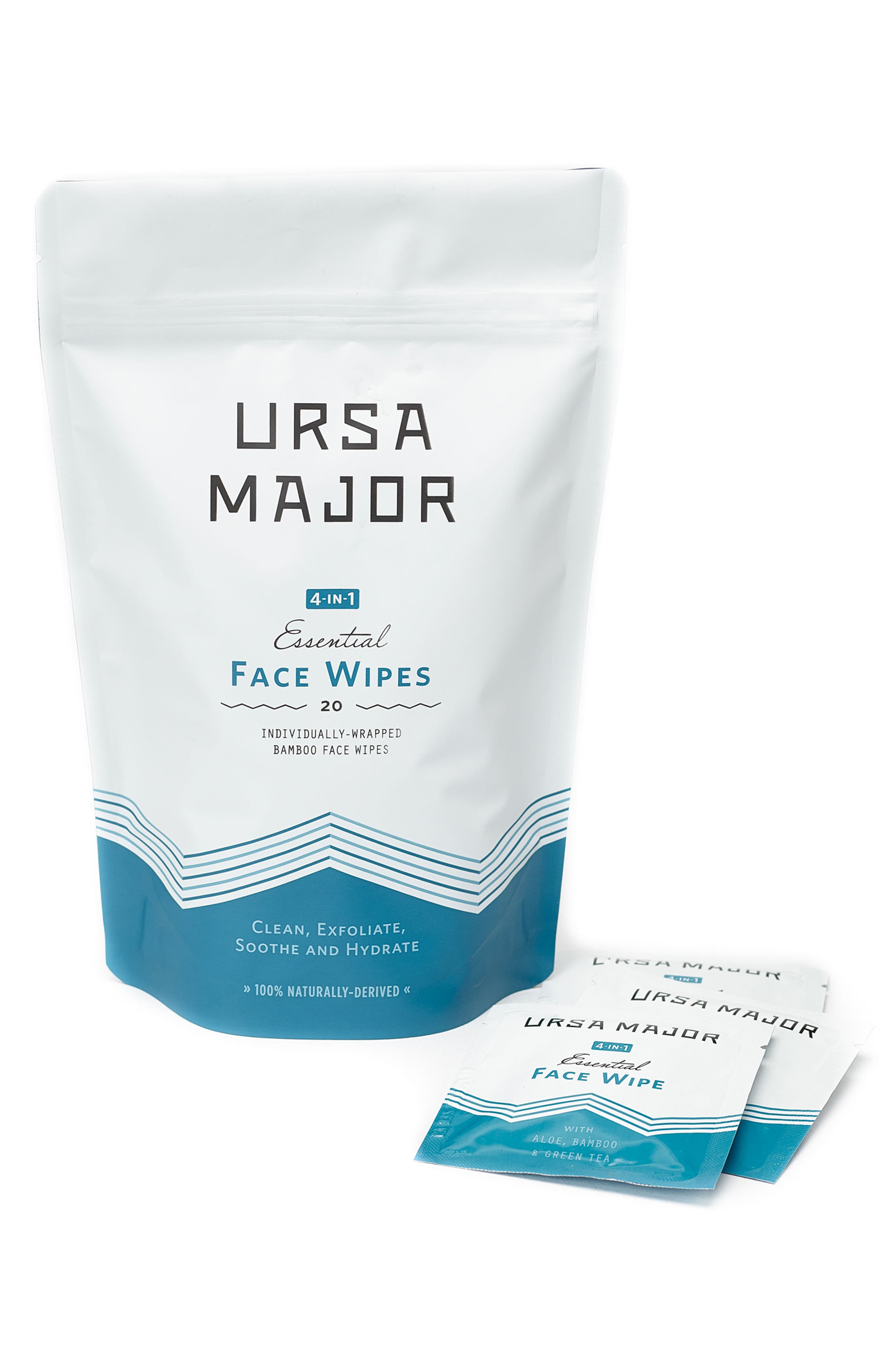 URSA MAJOR, 4-in-1 Essential Face Wipes, Main thumbnail 1, color, NO COLOR