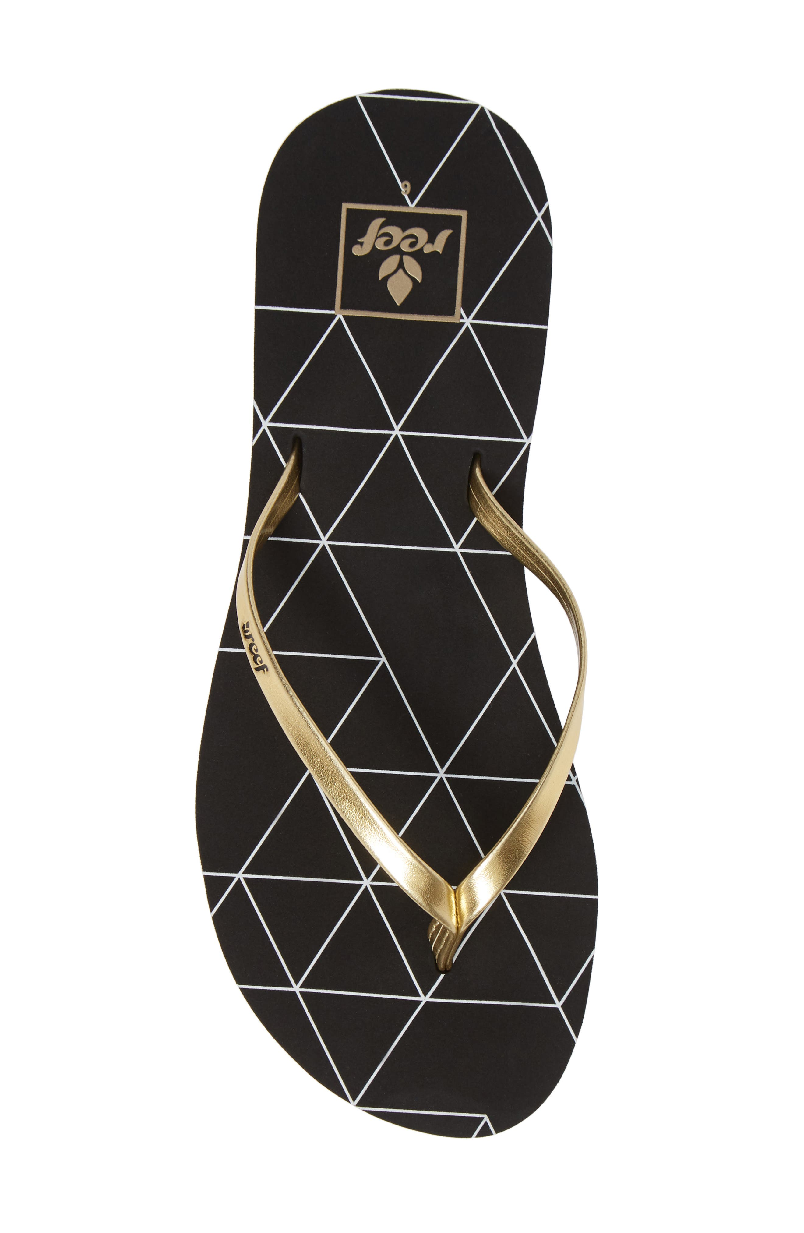 REEF, Bliss-Full Flip Flop, Alternate thumbnail 5, color, GOLD PYRAMIDS