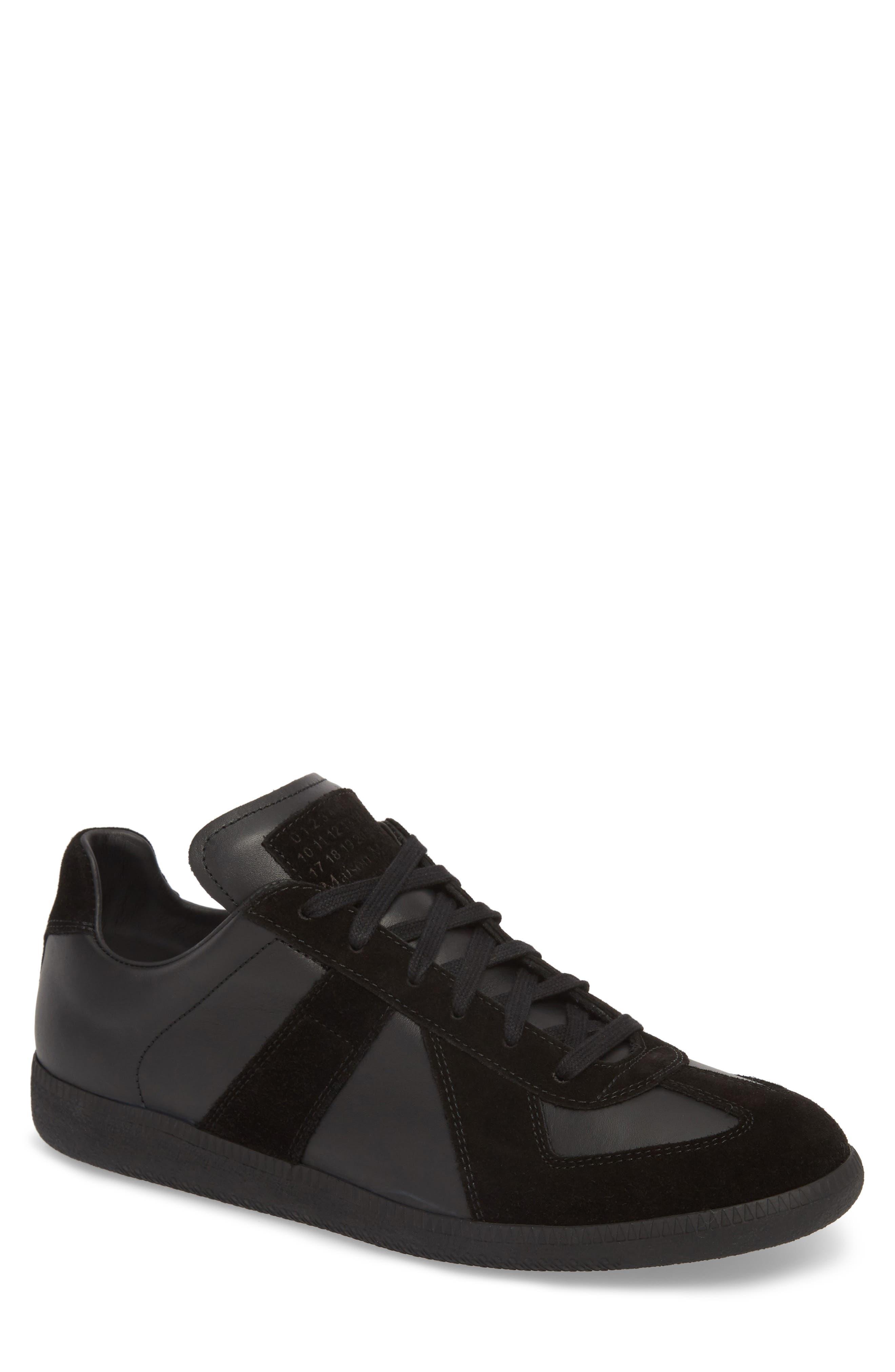 MM6 MAISON MARGIELA, Maison Margiela Replica Low Top Sneaker, Main thumbnail 1, color, BLACK