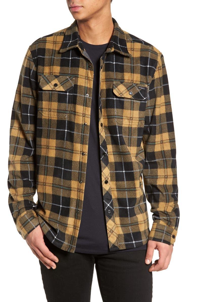 8117de16 O'NEILL Glacier Plaid Fleece Flannel Shirt, Main, color, ...