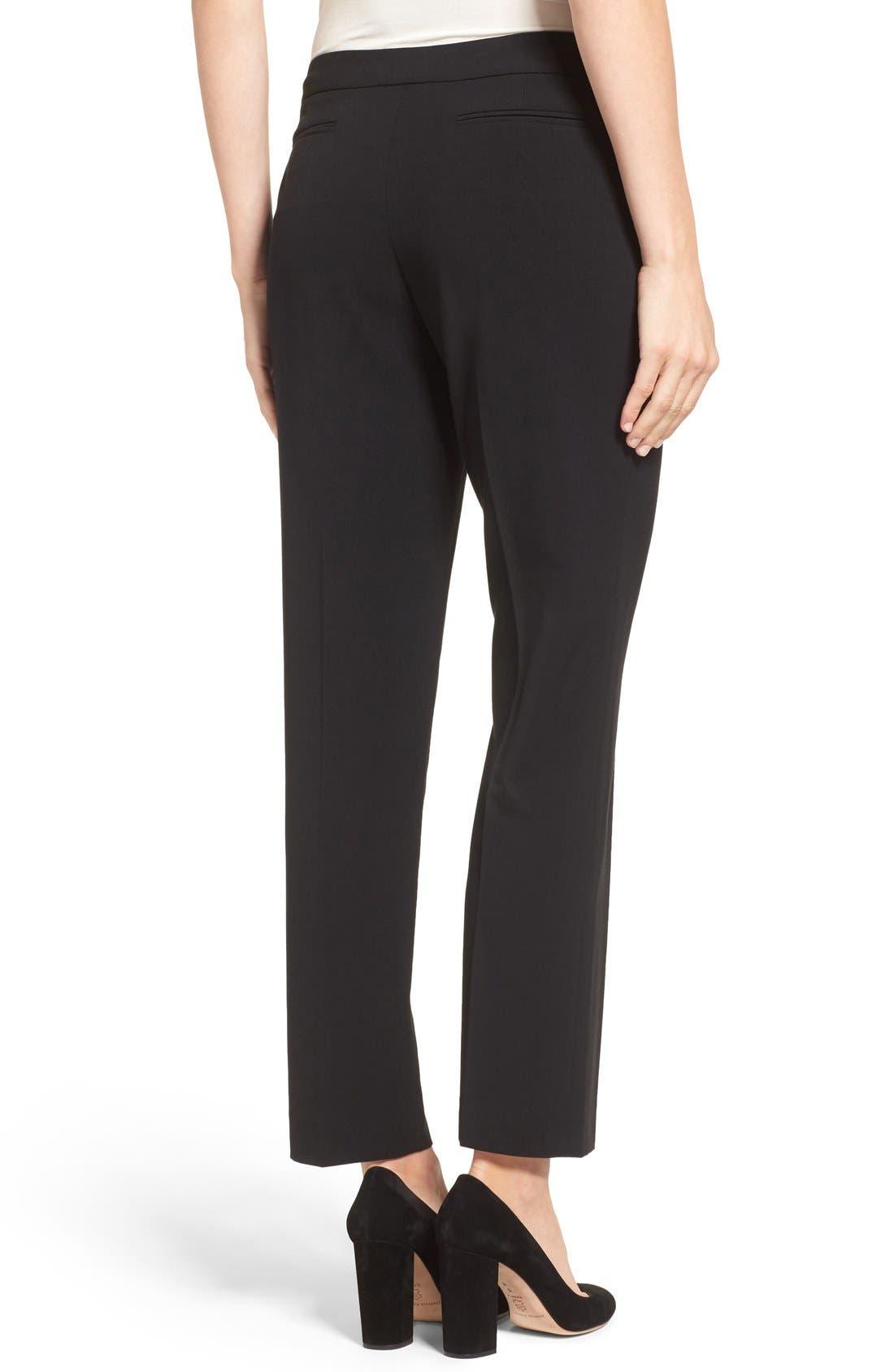 ANNE KLEIN, Slim Suit Pants, Alternate thumbnail 3, color, 001