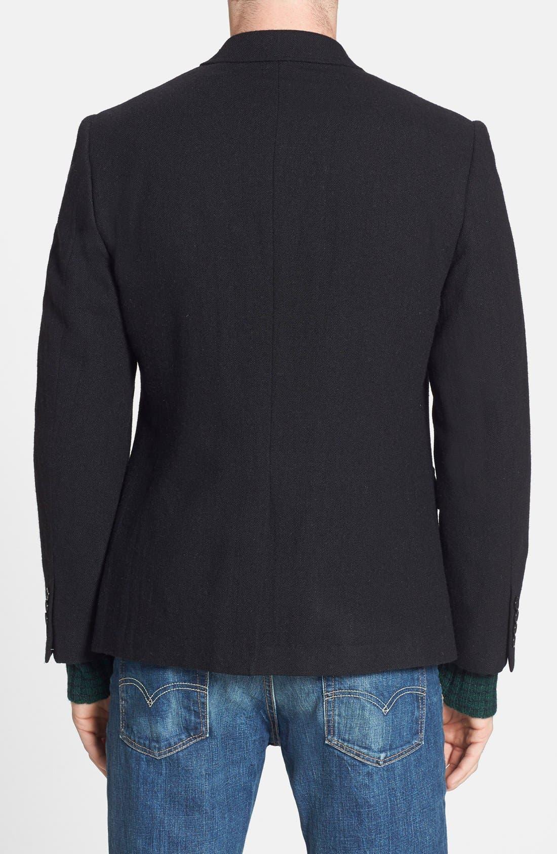 DOCKERS<SUP>®</SUP>, Dockers Trim Fit Wool Blend Blazer, Alternate thumbnail 5, color, 001