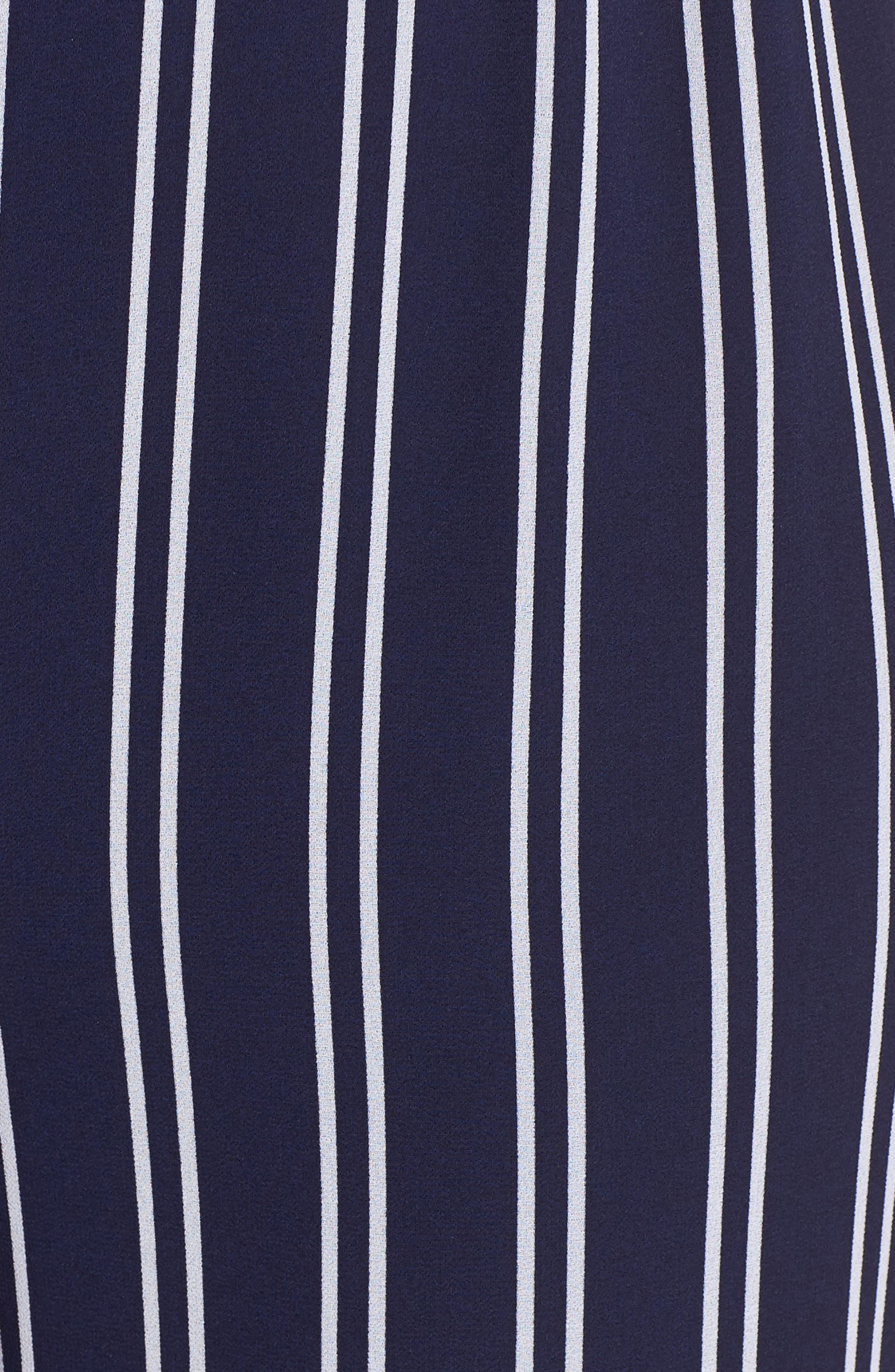 MICHAEL MICHAEL KORS, Mega Railroad Stripe Jumpsuit, Alternate thumbnail 6, color, 400