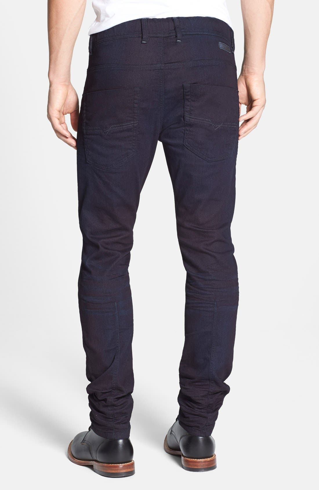 DIESEL<SUP>®</SUP>, Krooley Jogg Slouchy Skinny Fit Jeans, Alternate thumbnail 4, color, 0829P