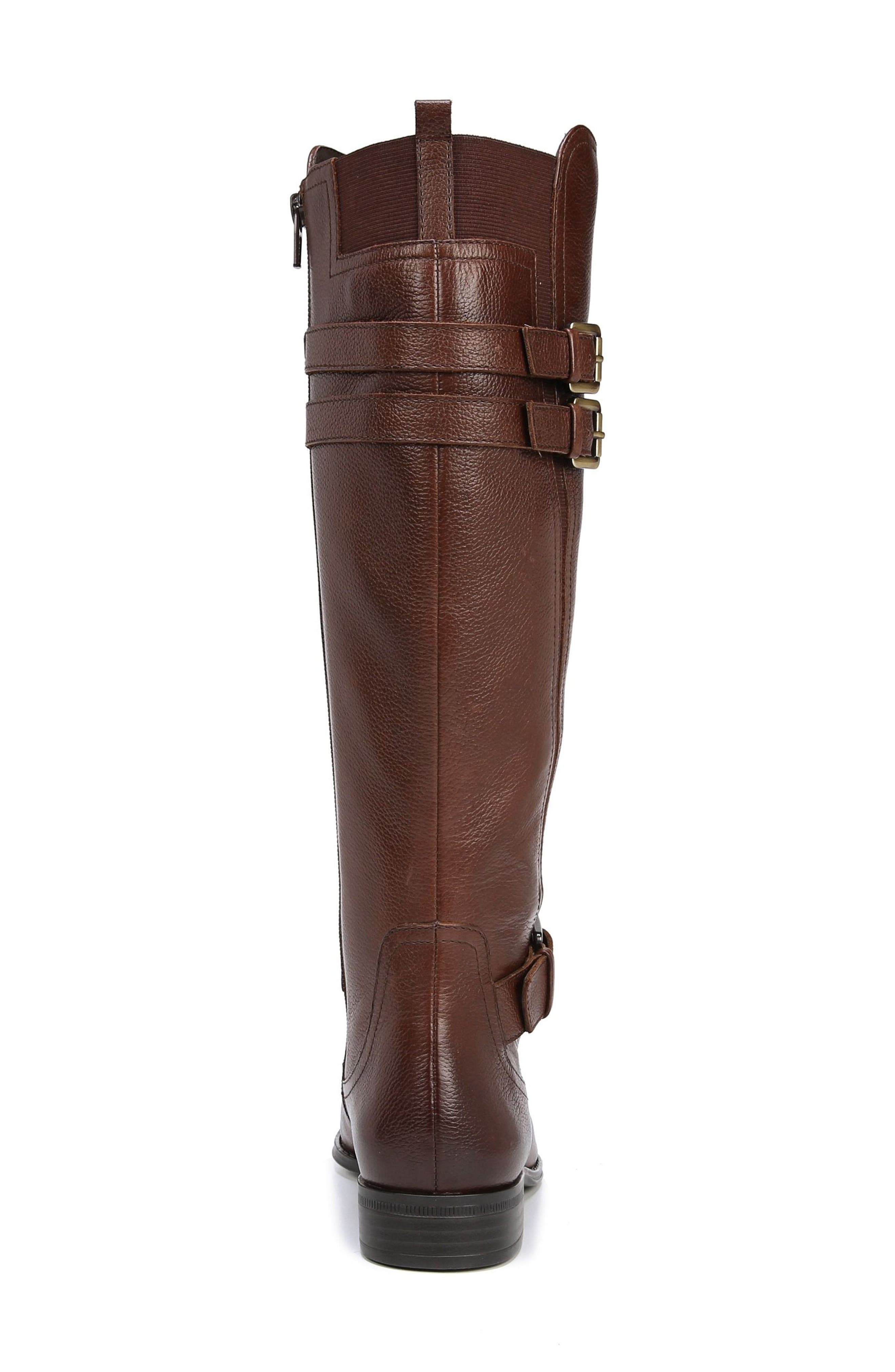 NATURALIZER, Jessie Knee High Riding Boot, Alternate thumbnail 9, color, CHOCOLATE LEATHER