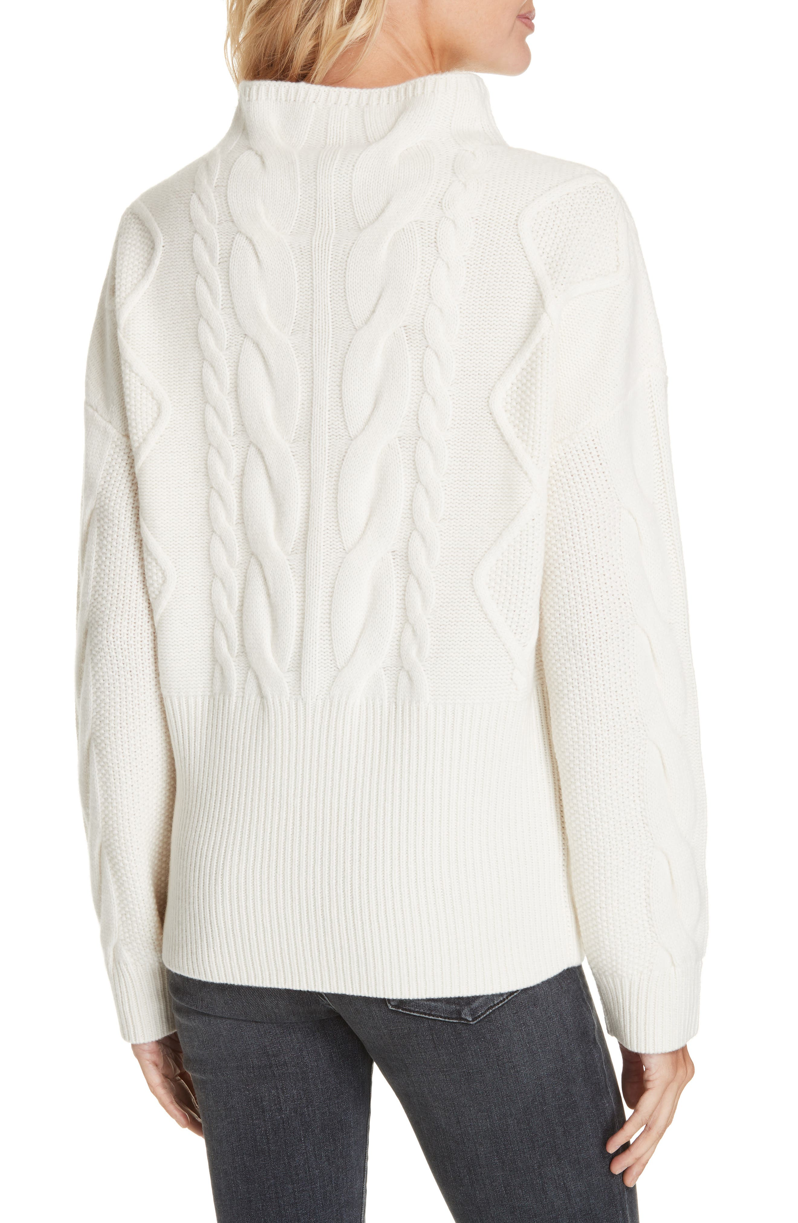 NORDSTROM SIGNATURE, Cable Cashmere Sweater, Alternate thumbnail 2, color, 900