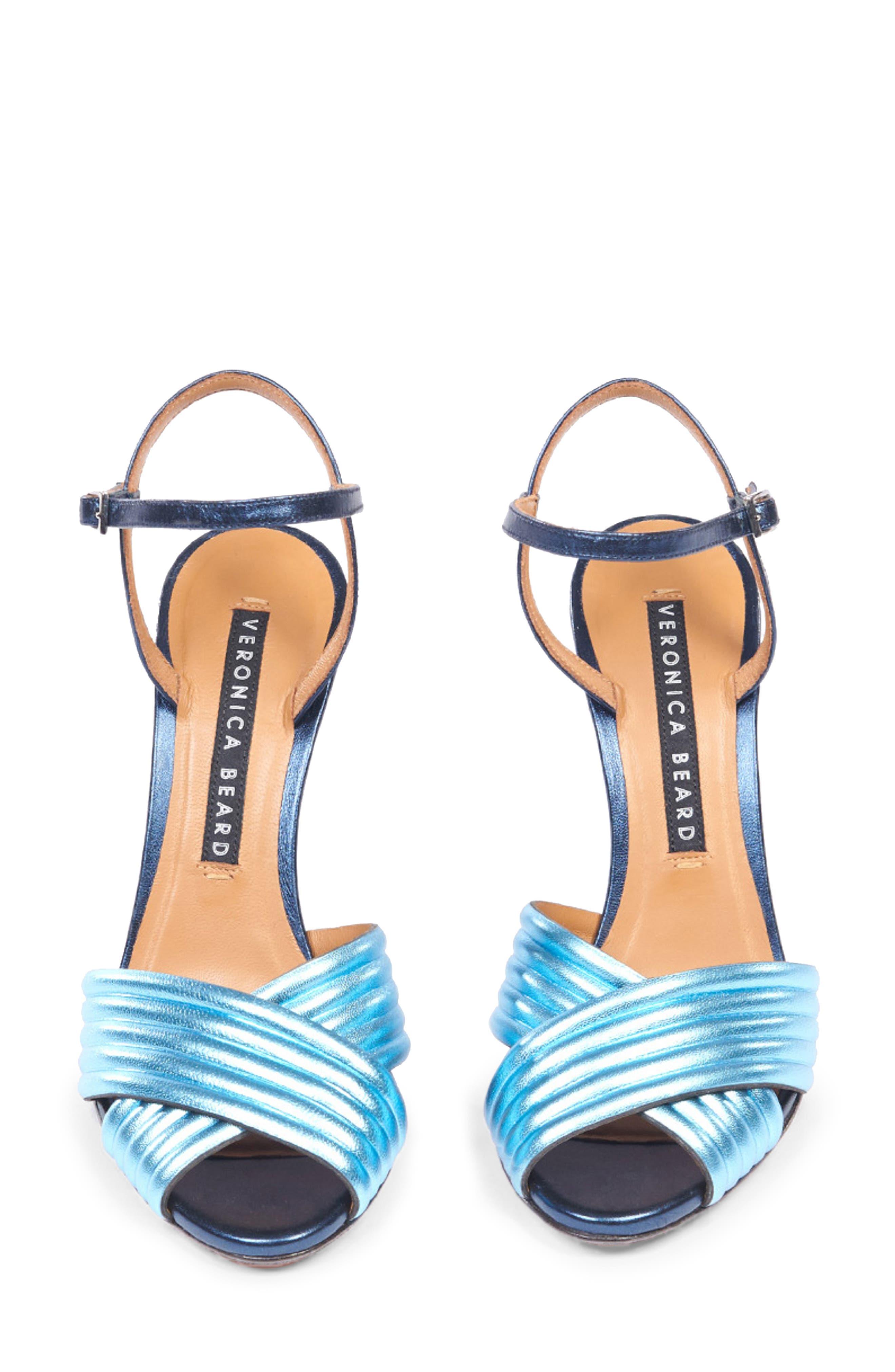VERONICA BEARD, Olympia Quarter Strap Sandal, Alternate thumbnail 3, color, BLUE/ INDIGO