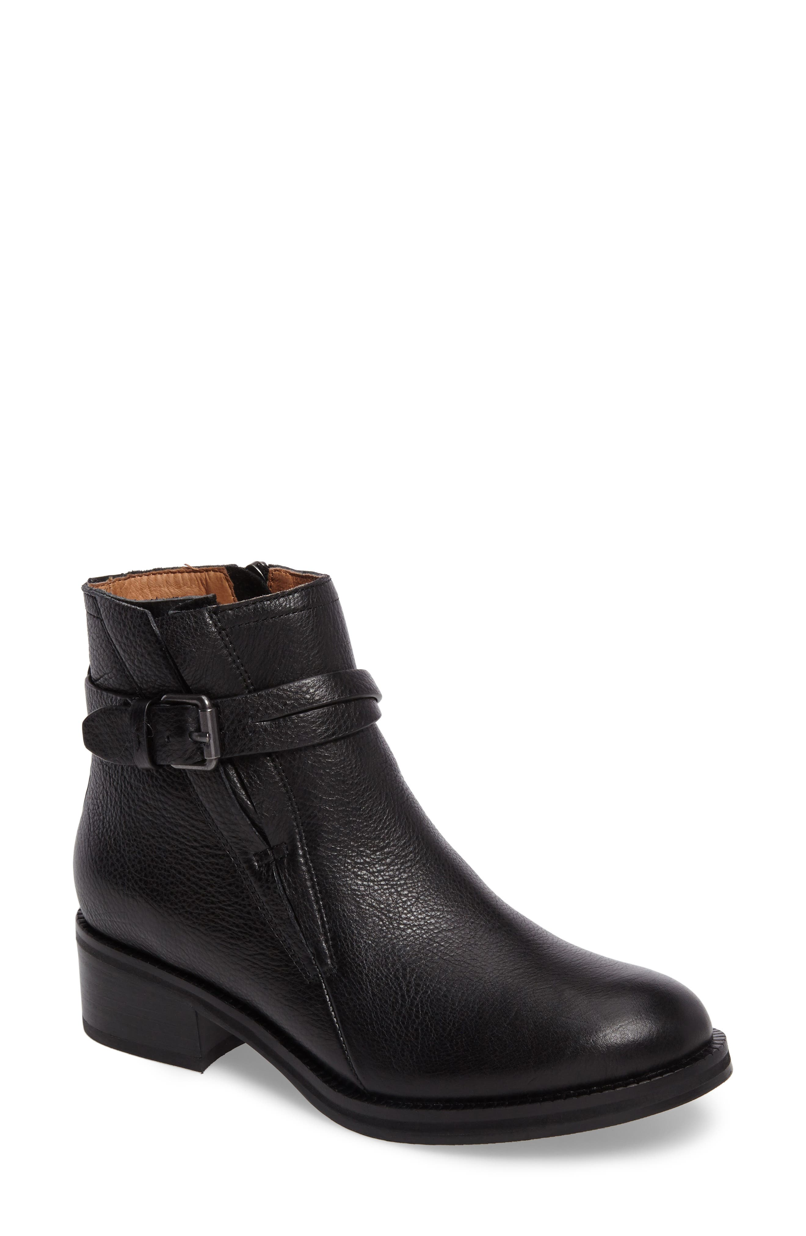 GENTLE SOULS BY KENNETH COLE, Percy Bootie, Main thumbnail 1, color, BLACK LEATHER
