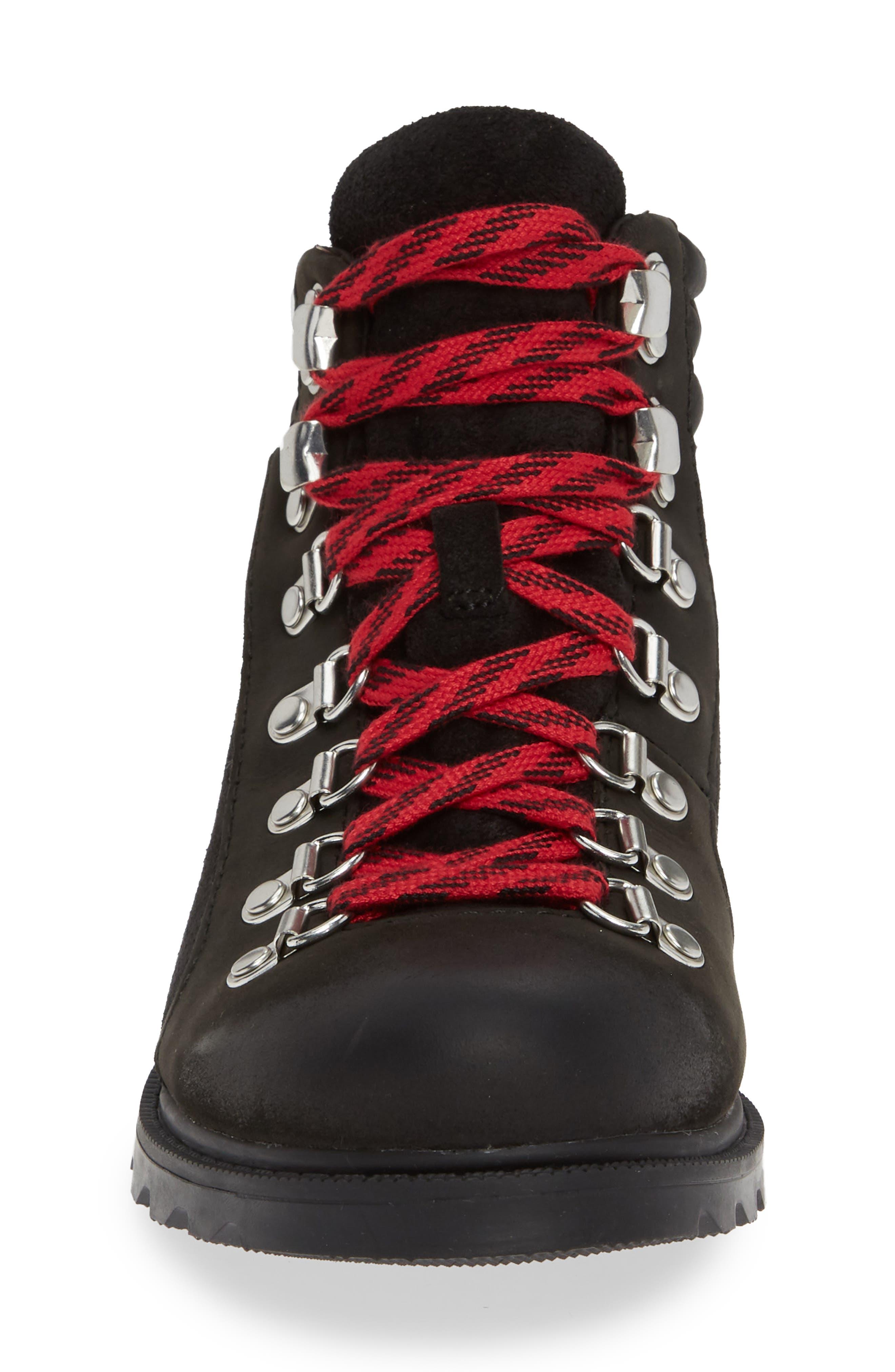 SOREL, Ainsley Conquest Waterproof Boot, Alternate thumbnail 4, color, BLACK/ BLACK